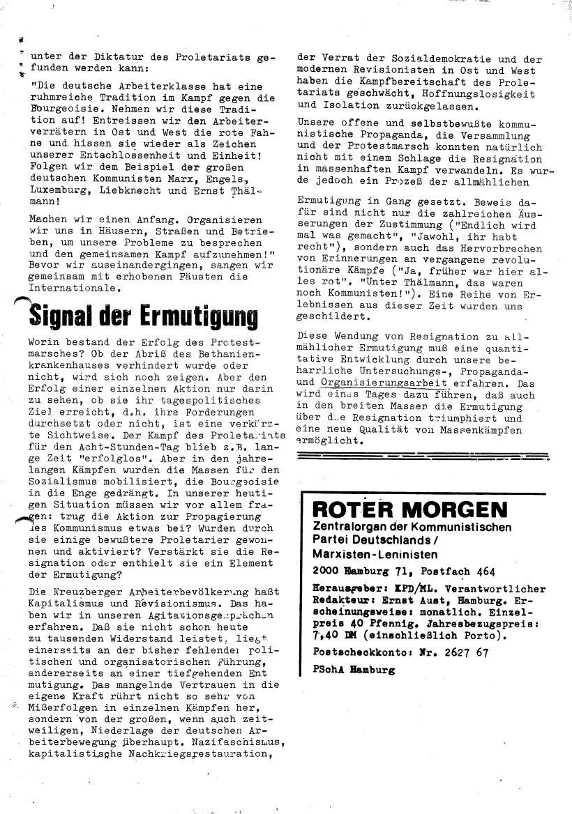 Roter Morgen, 4. Jg., Sonderdruck, März 1970, Seite 15
