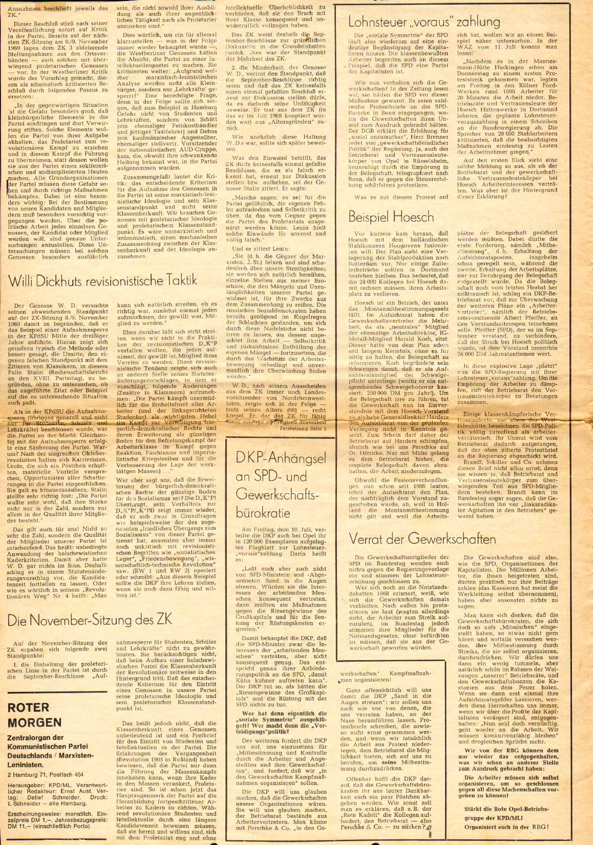Roter Morgen, 4. Jg., August 1970, Nr. 7, Seite 2