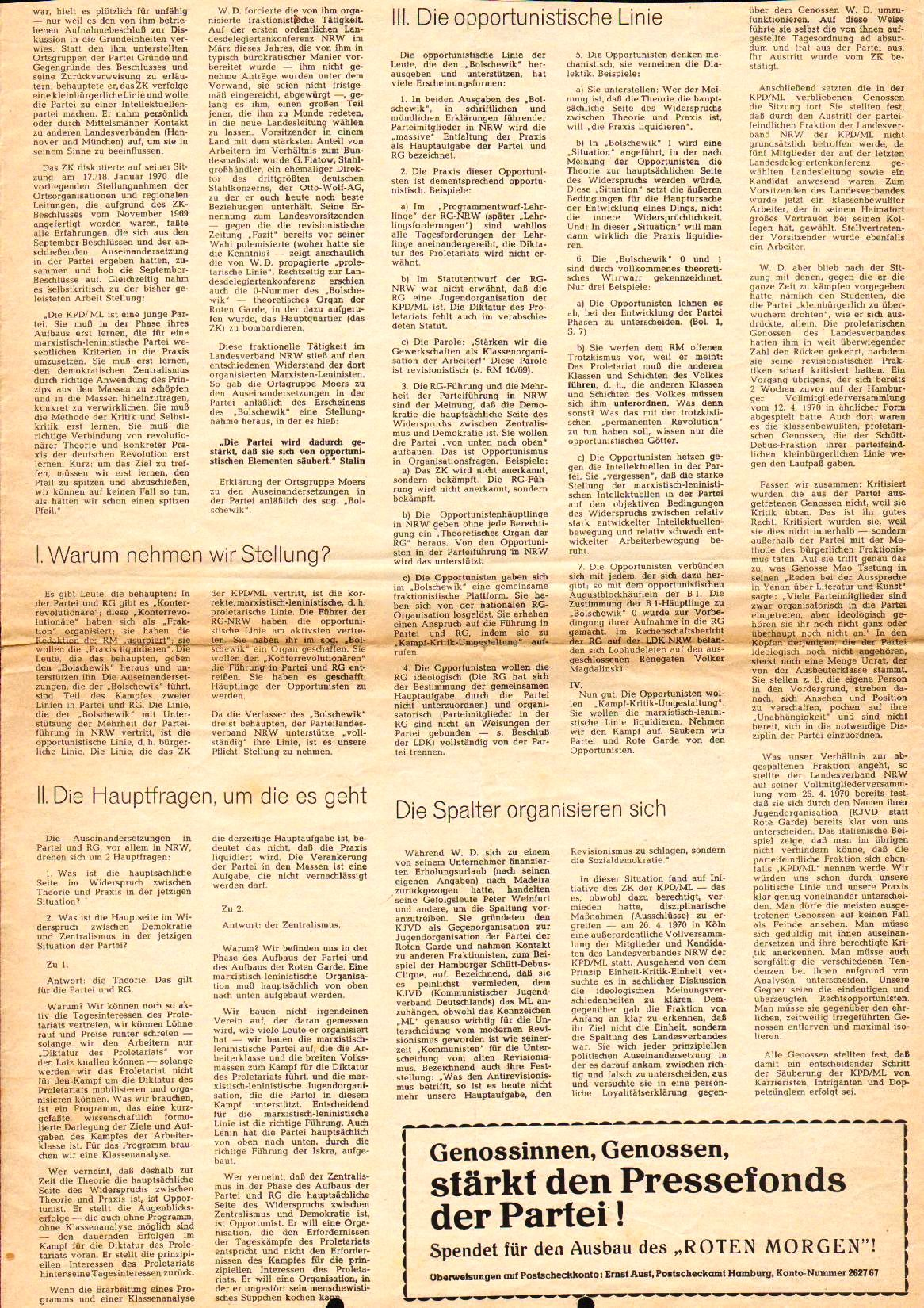 Roter Morgen, 4. Jg., August 1970, Nr. 7, Seite 3