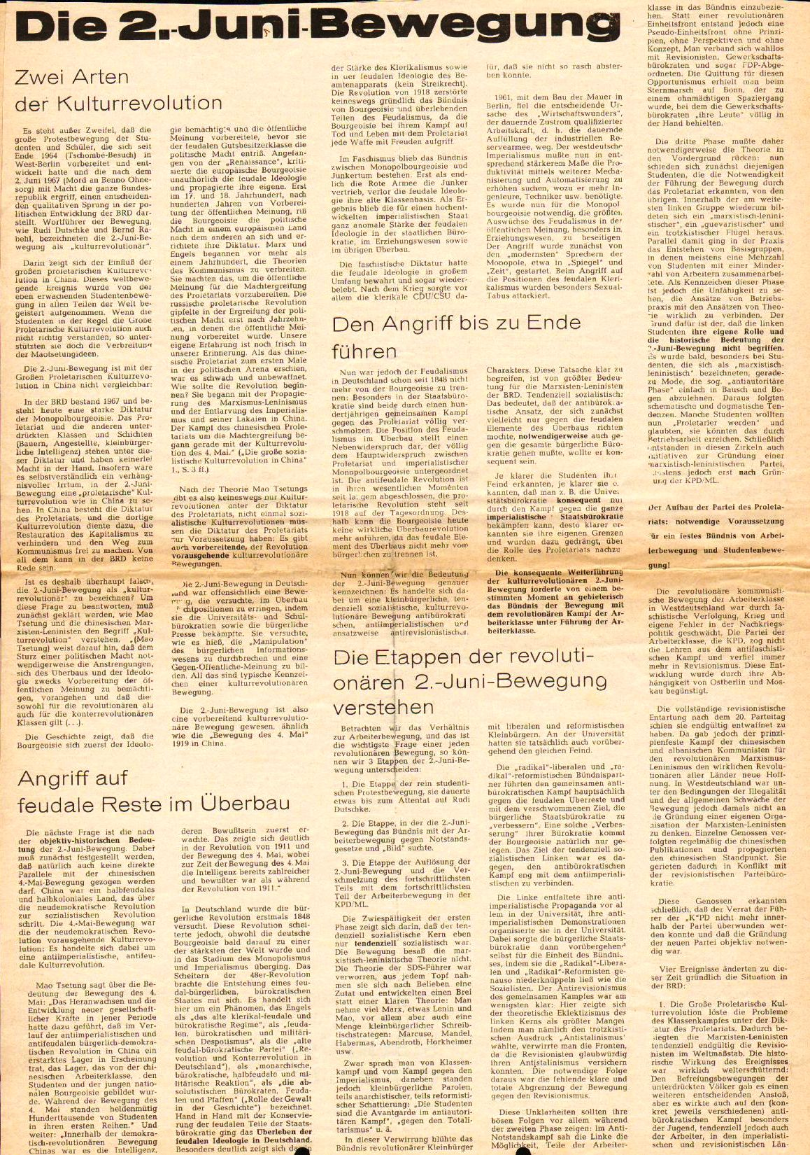 Roter Morgen, 4. Jg., August 1970, Nr. 7, Seite 4