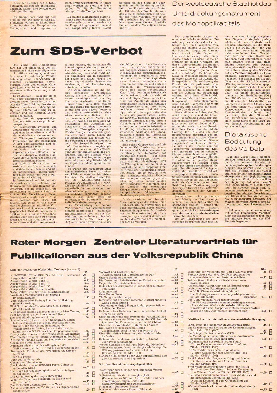 Roter Morgen, 4. Jg., August 1970, Nr. 7, Seite 7