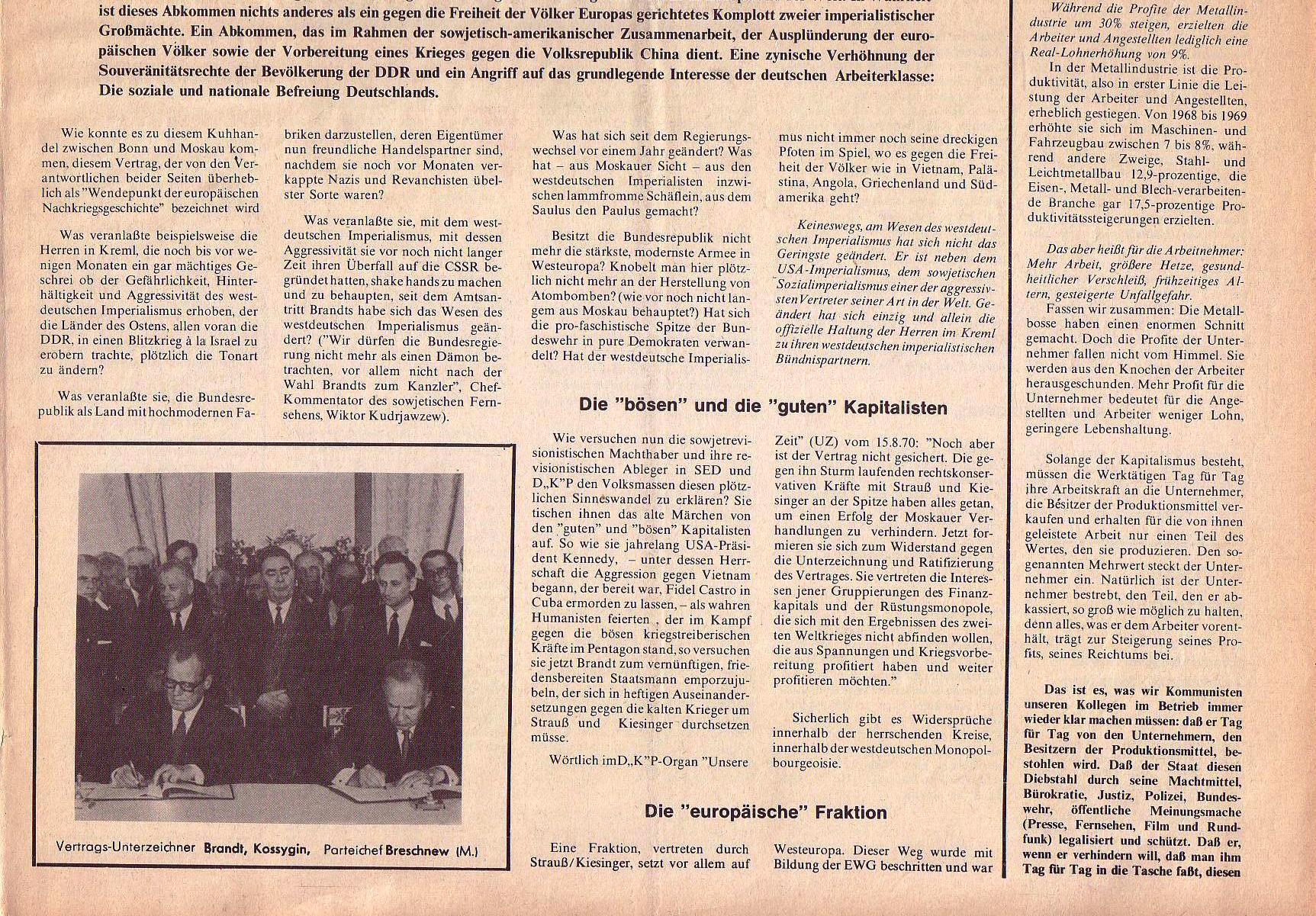 Roter Morgen, 4. Jg., September 1970, Nr. 8, Seite 1b