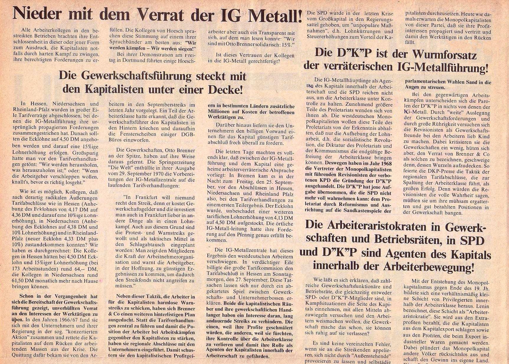 Roter Morgen, 4. Jg., Oktober 1970, Nr. 9, Seite 2a