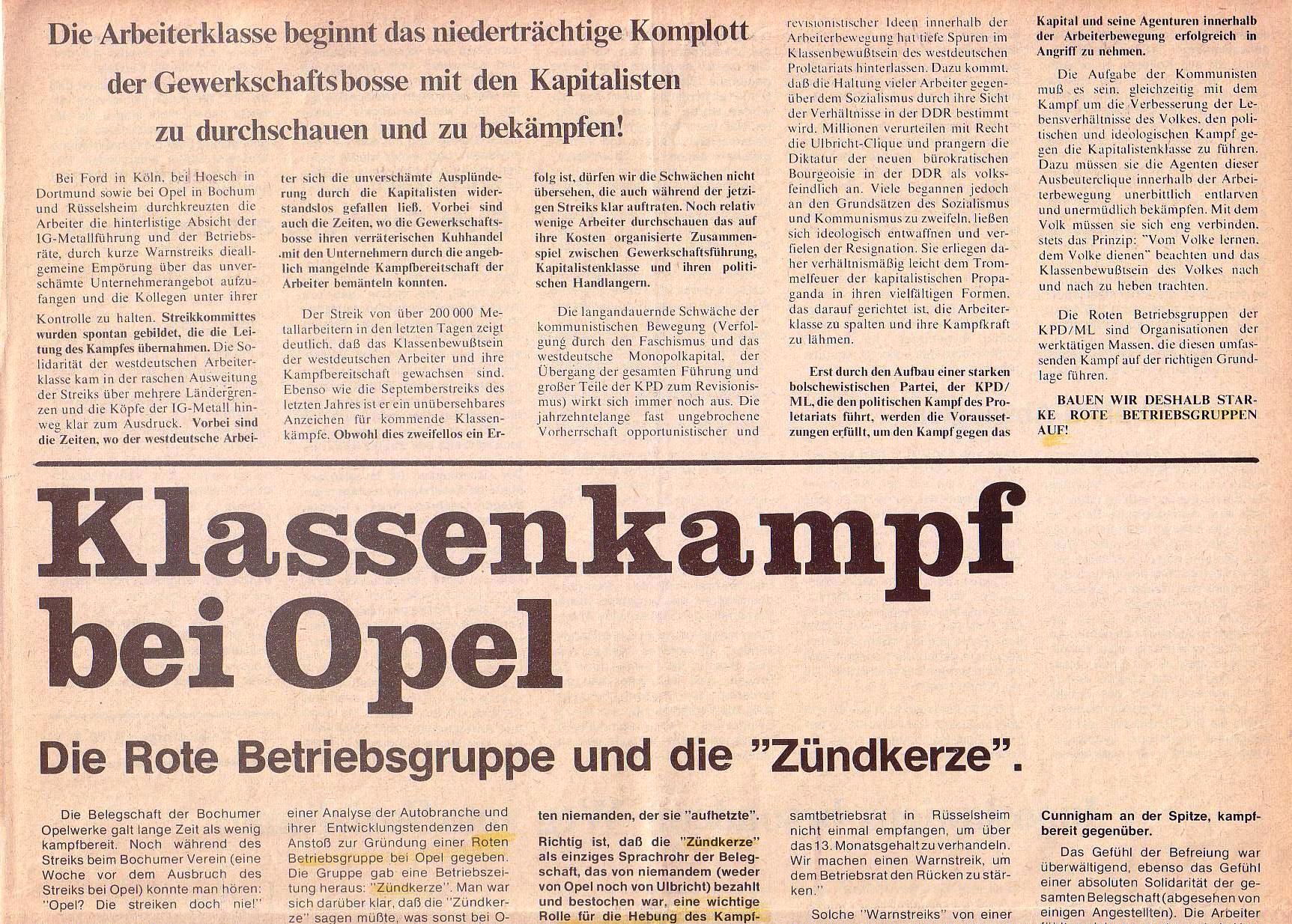 Roter Morgen, 4. Jg., Oktober 1970, Nr. 9, Seite 3a