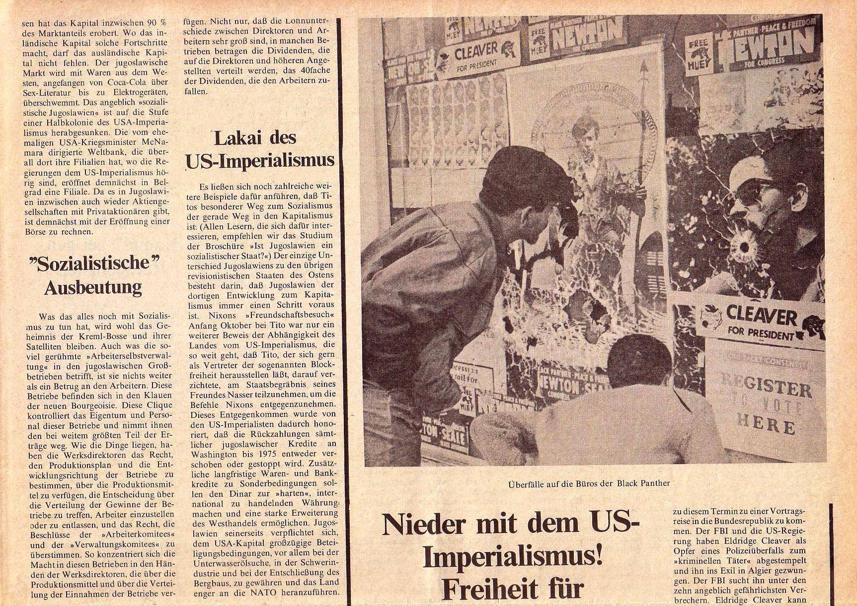 Roter Morgen, 4. Jg., Oktober 1970, Nr. 9, Seite 5a