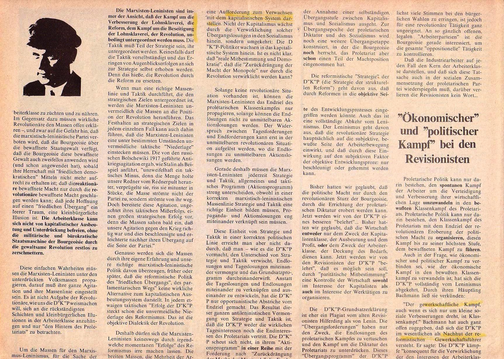 Roter Morgen, 4. Jg., Oktober 1970, Nr. 9, Seite 6a