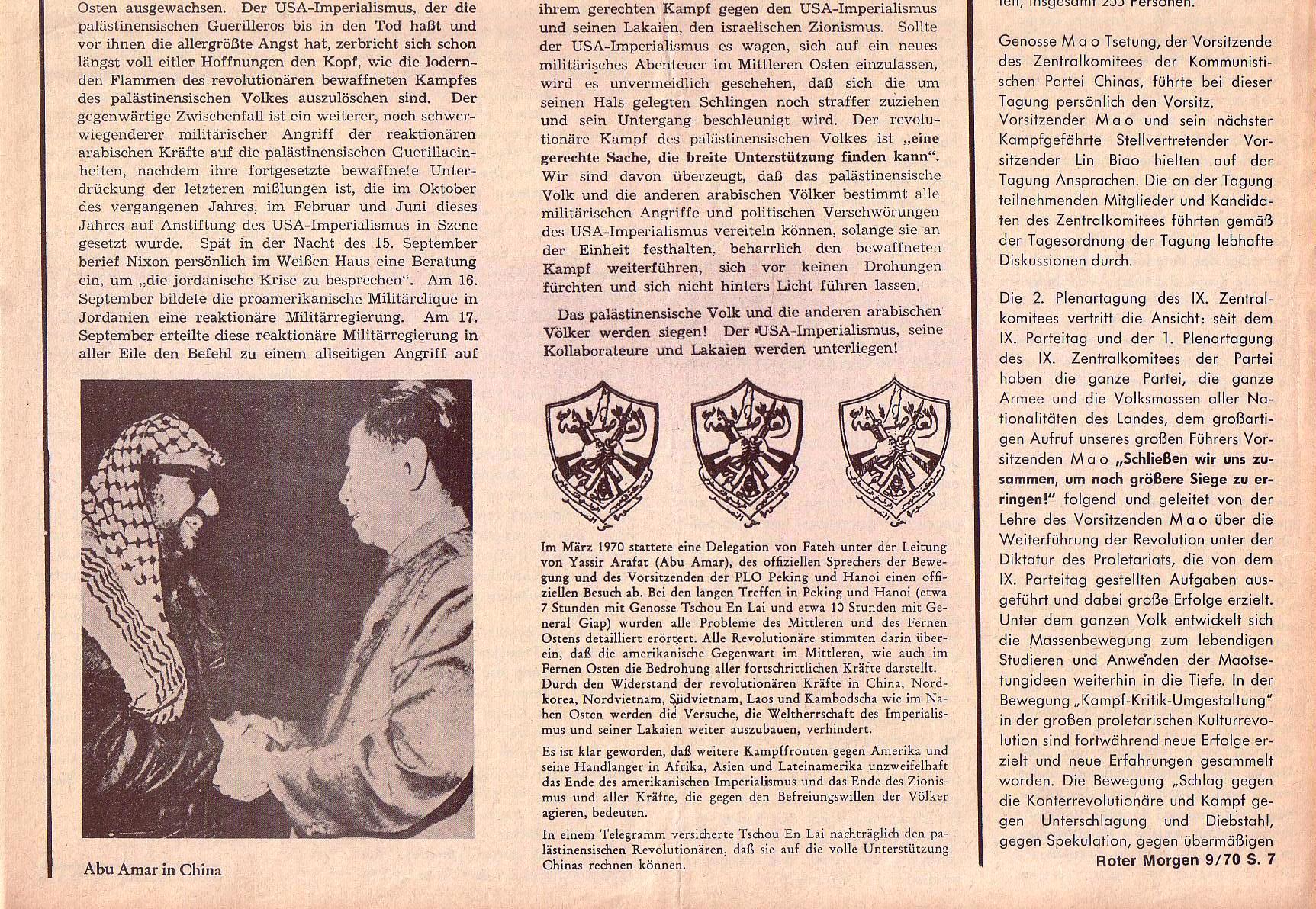 Roter Morgen, 4. Jg., Oktober 1970, Nr. 9, Seite 7b