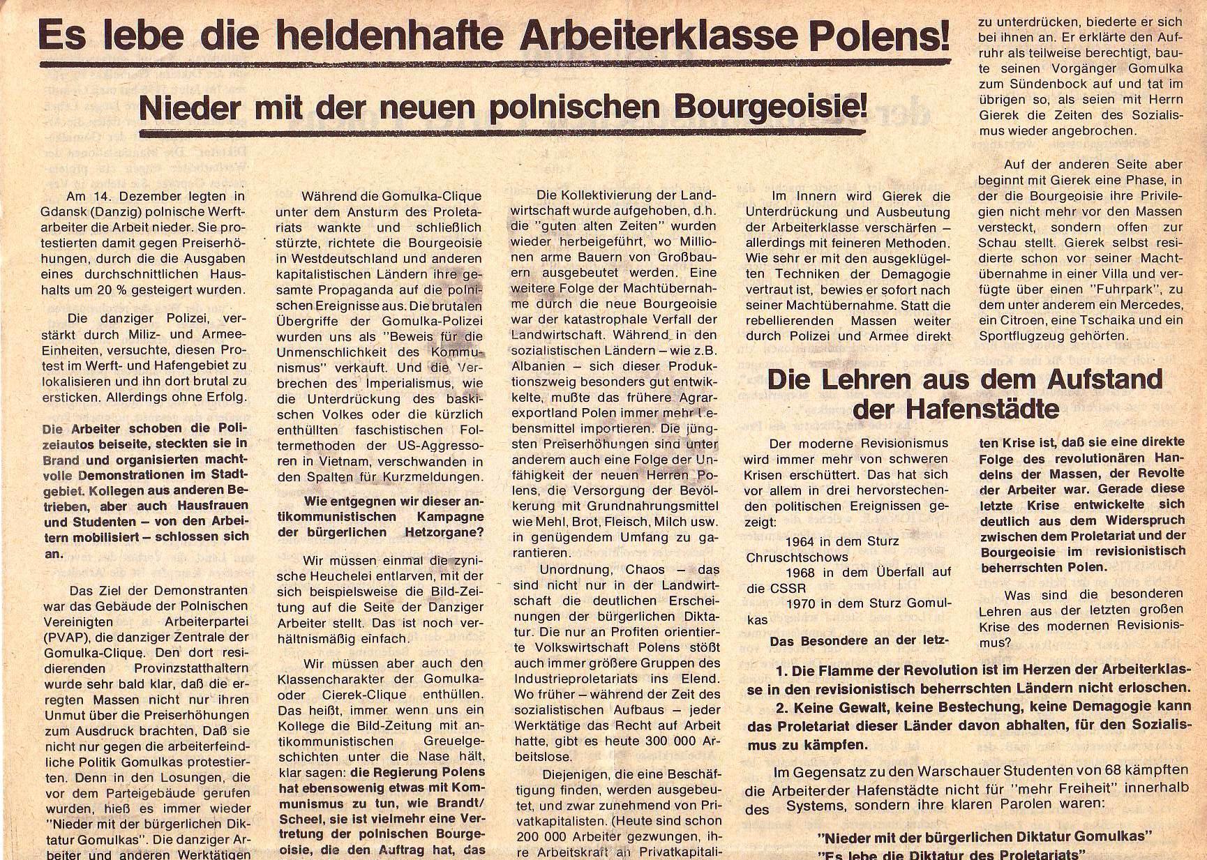 Roter Morgen, 5. Jg., Januar 1971, Nr. 1, Seite 3a