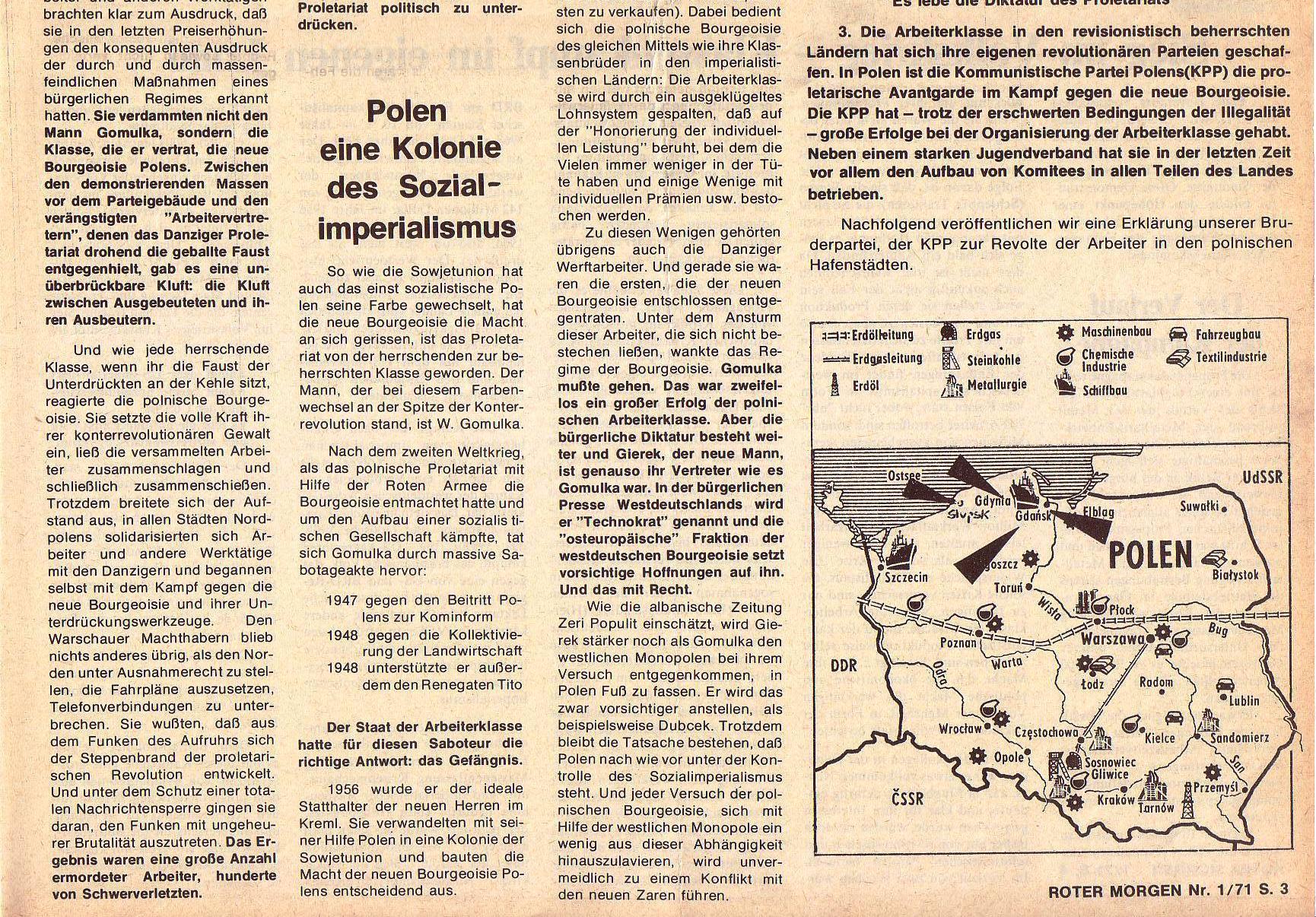 Roter Morgen, 5. Jg., Januar 1971, Nr. 1, Seite 3b