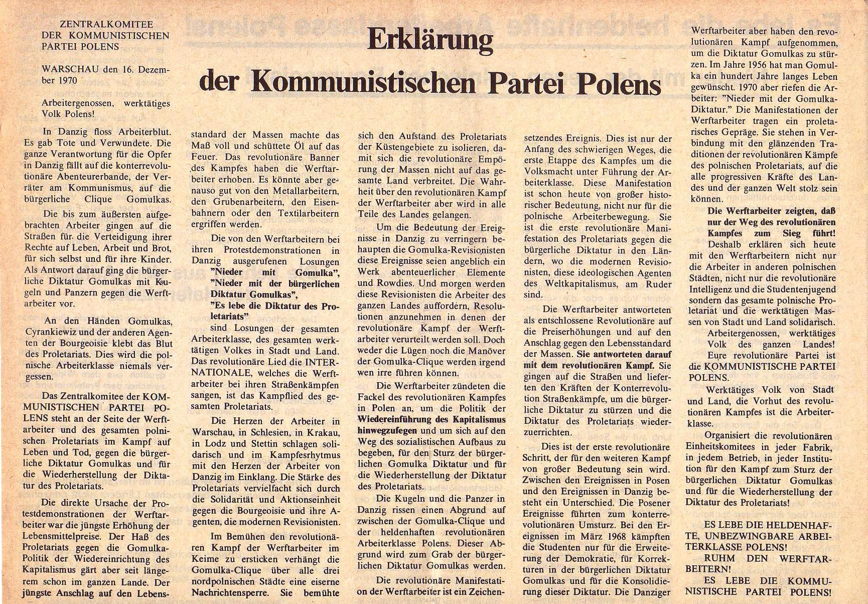 Roter Morgen, 5. Jg., Januar 1971, Nr. 1, Seite 4a