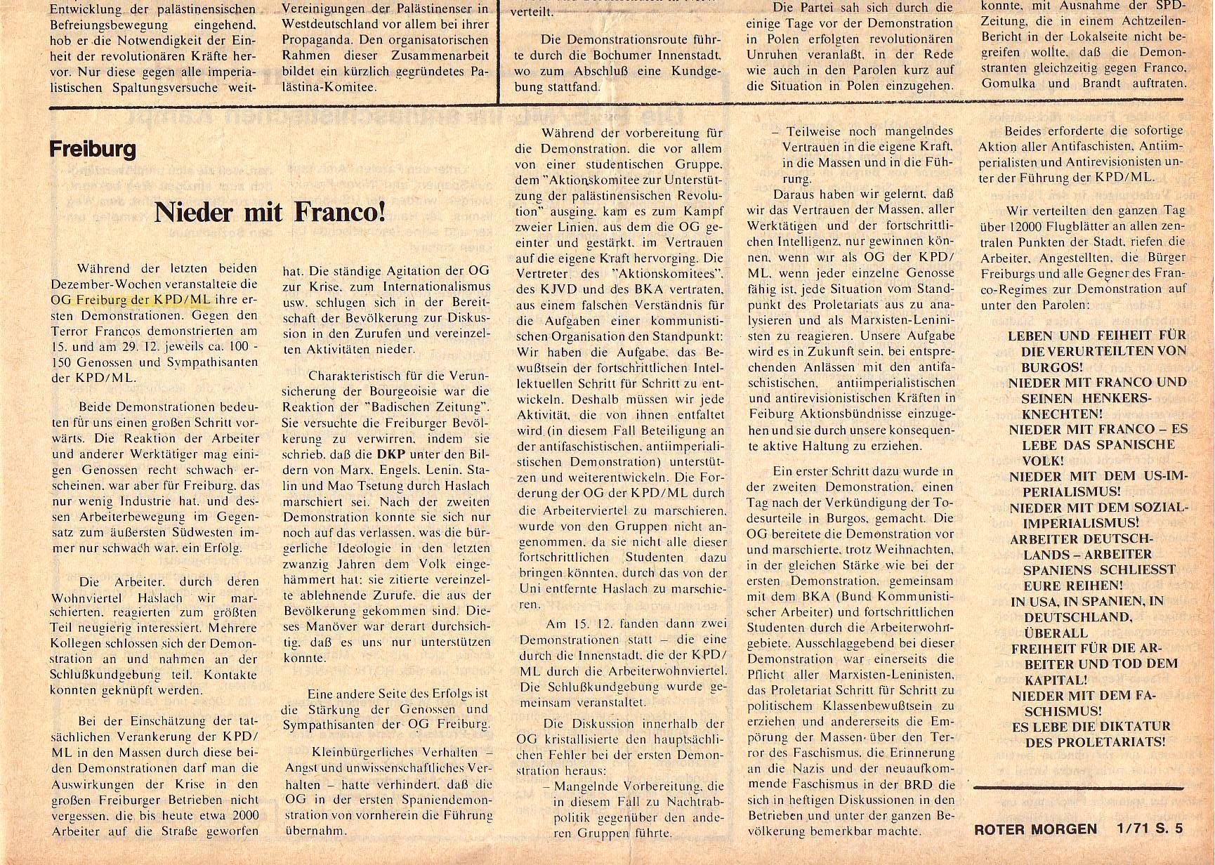 Roter Morgen, 5. Jg., Januar 1971, Nr. 1, Seite 5b