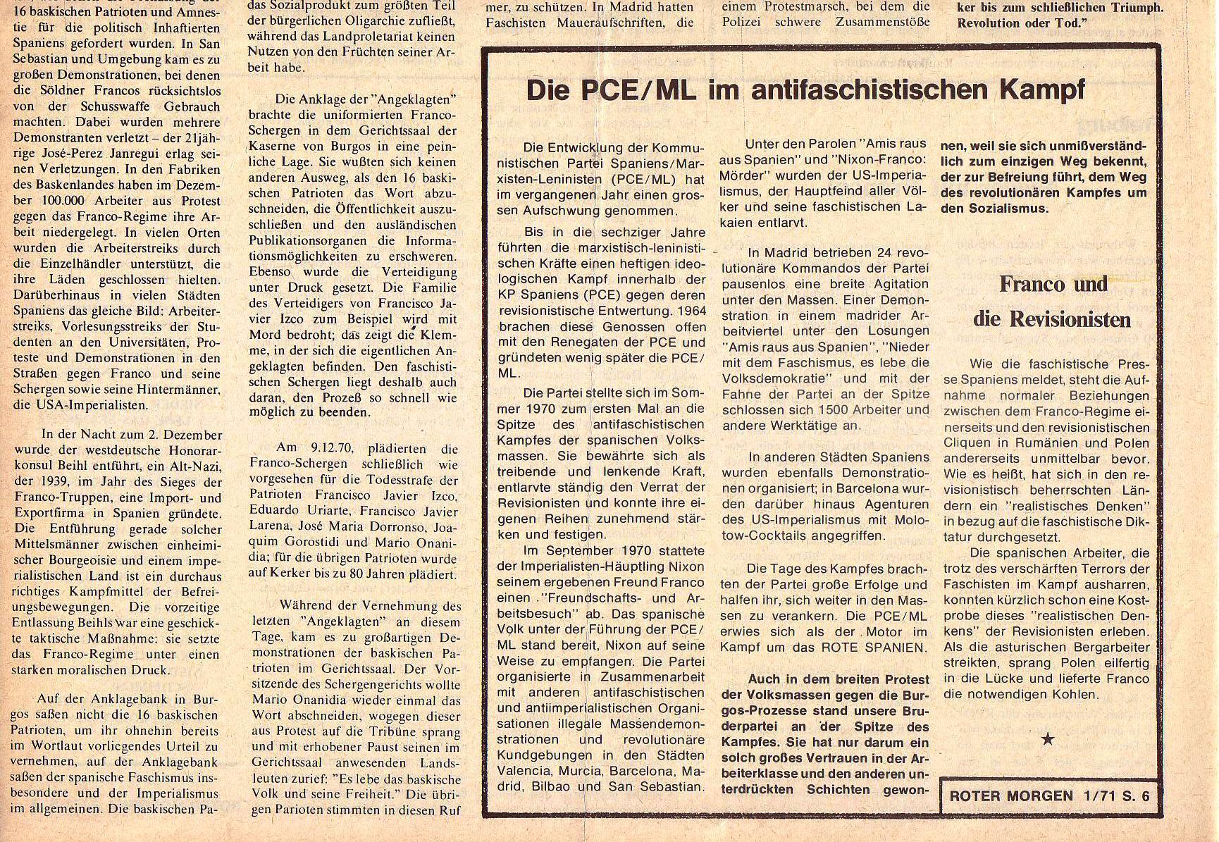 Roter Morgen, 5. Jg., Januar 1971, Nr. 1, Seite 6b