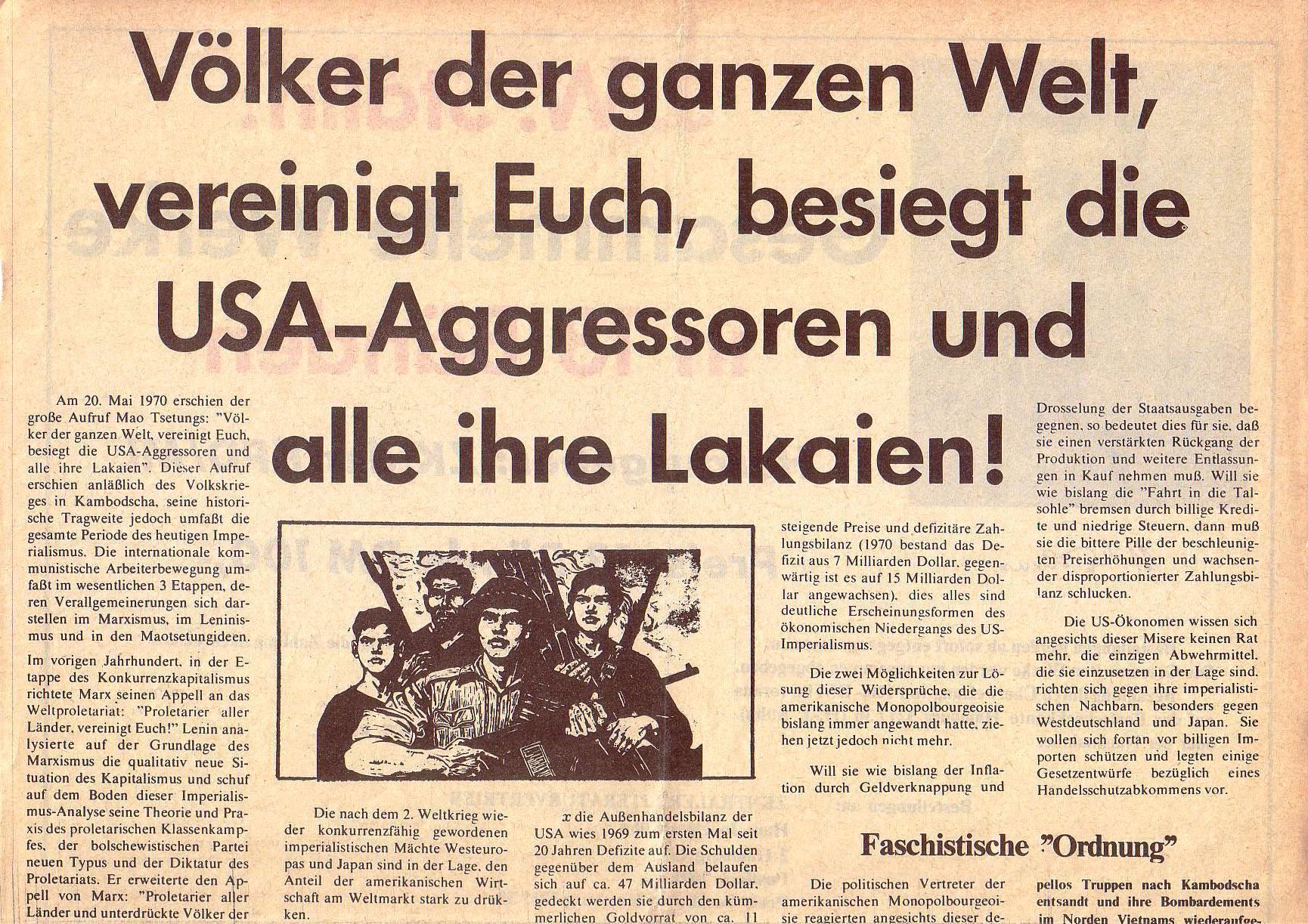 Roter Morgen, 5. Jg., Januar 1971, Nr. 1, Seite 7a