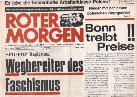 Roter Morgen, 1/1971