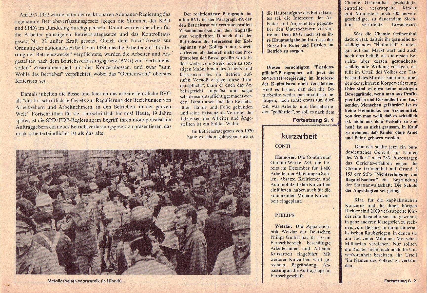 Roter Morgen, 5. Jg., Februar 1971, Nr. 2, Seite 1b
