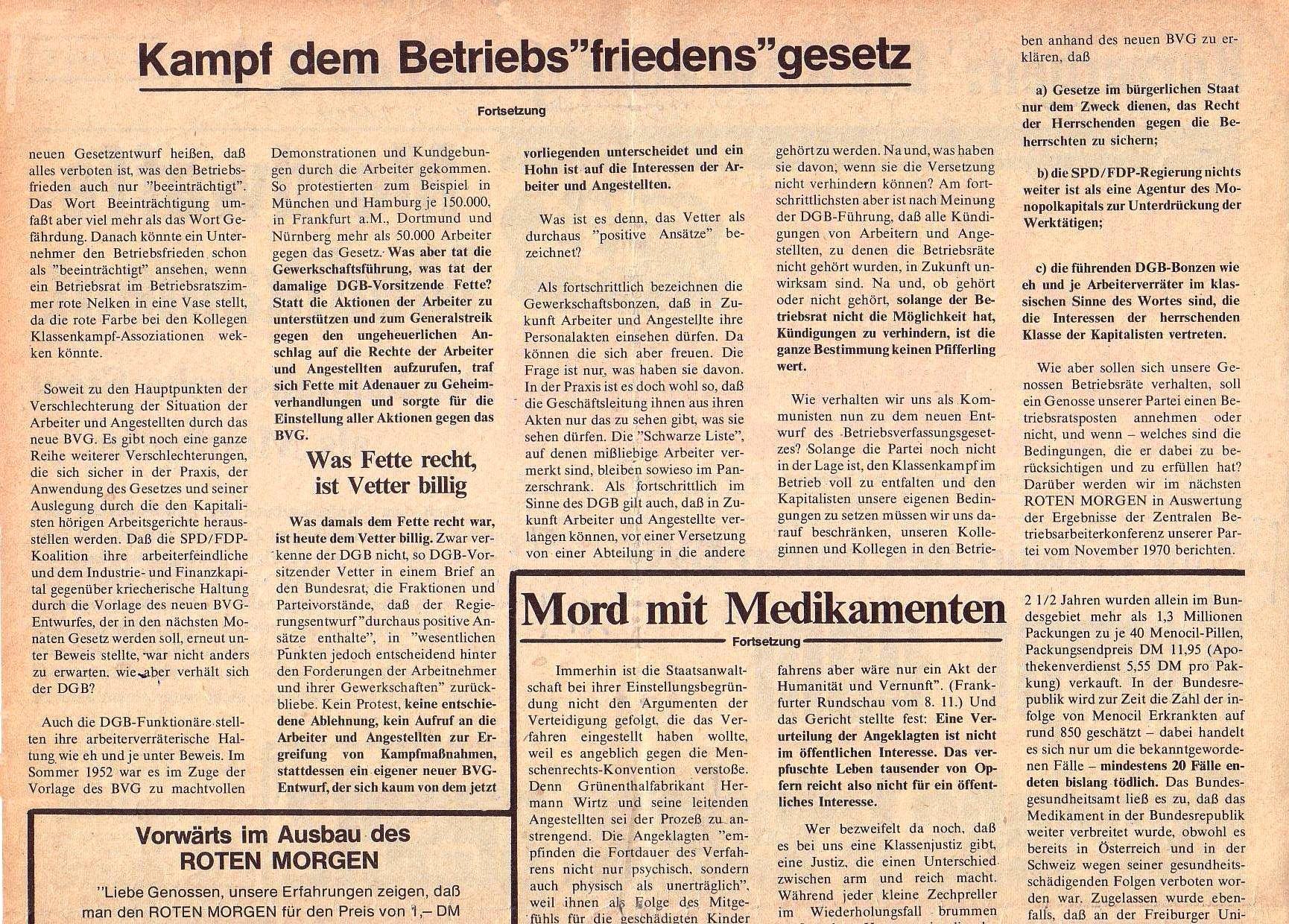 Roter Morgen, 5. Jg., Februar 1971, Nr. 2, Seite 2a