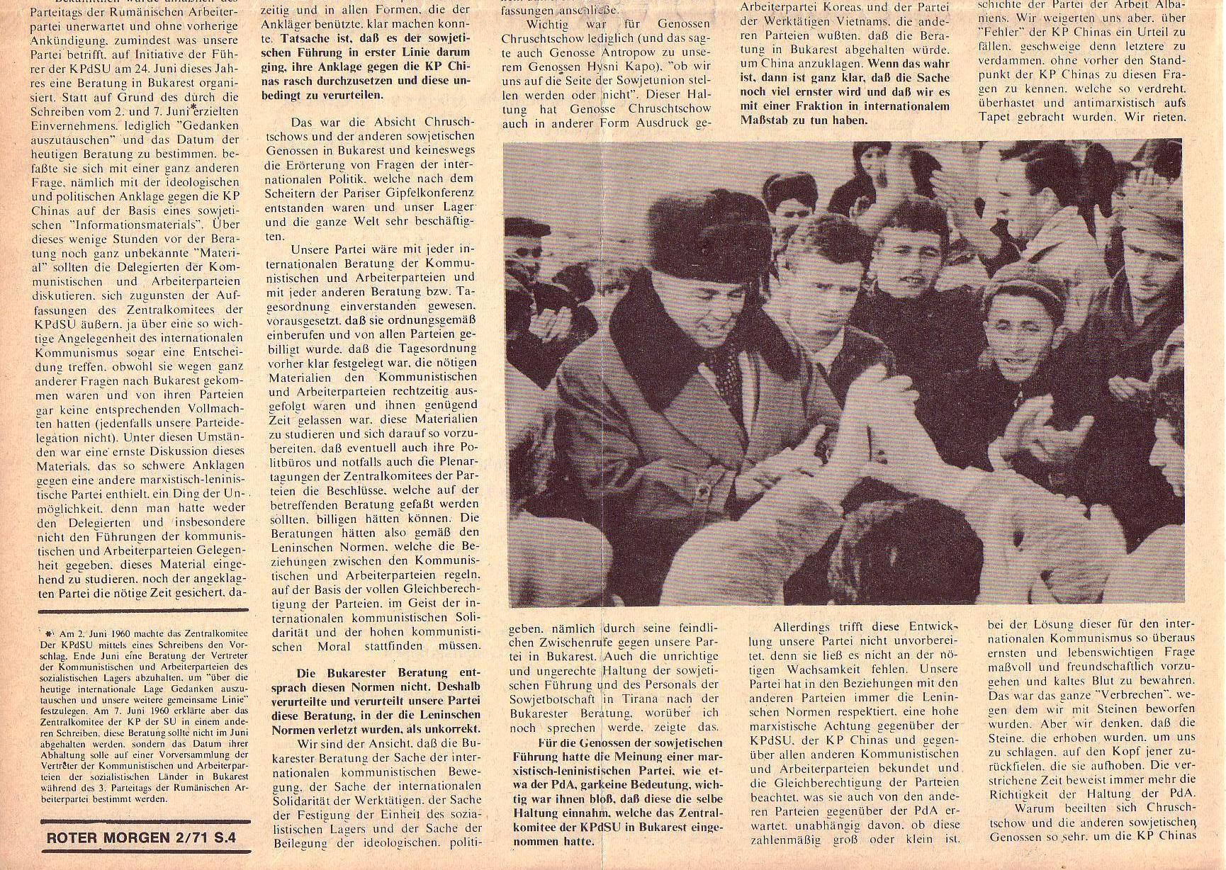 Roter Morgen, 5. Jg., Februar 1971, Nr. 2, Seite 4b