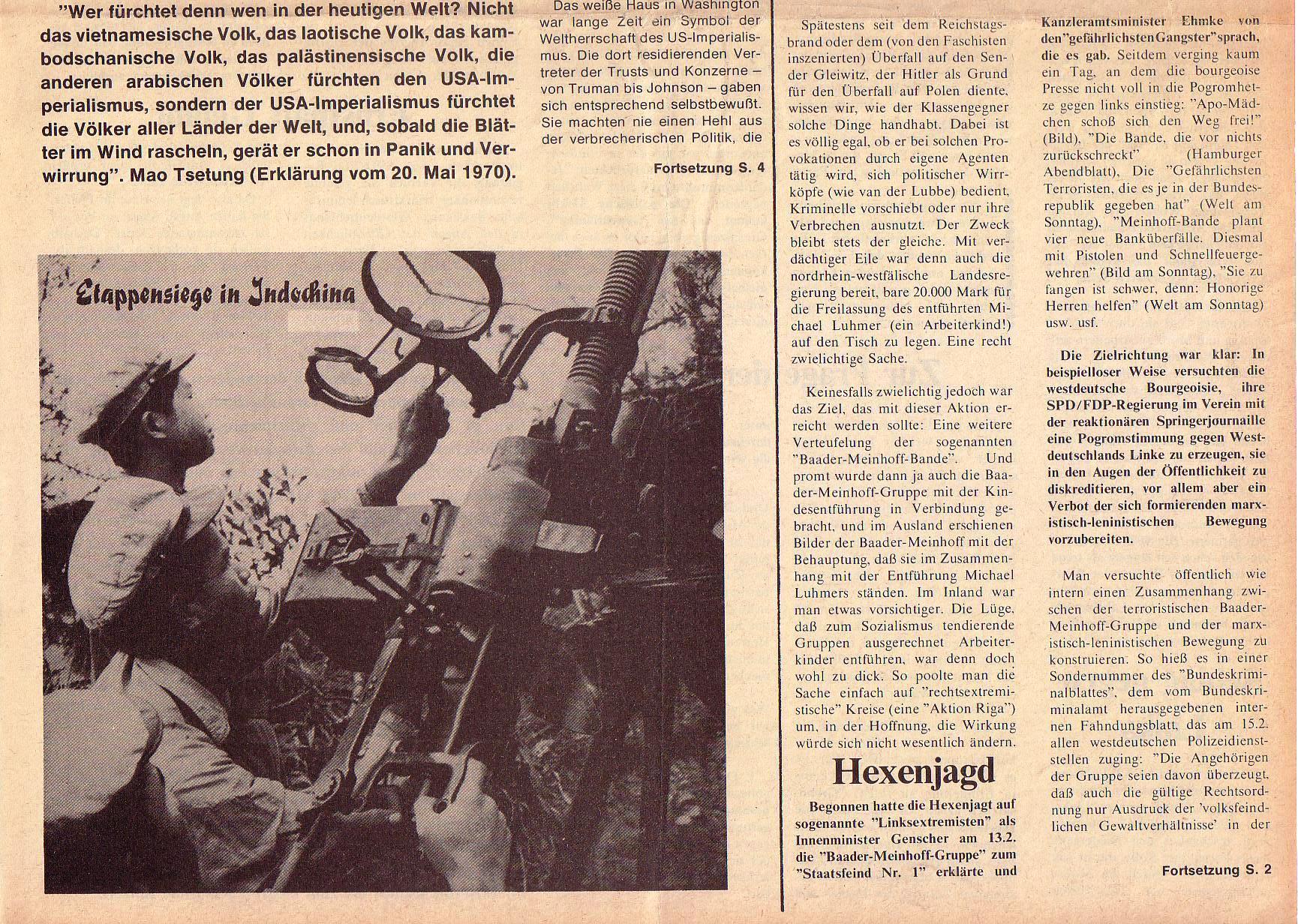 Roter Morgen, 5. Jg., März 1971, Nr. 3, Seite 1b