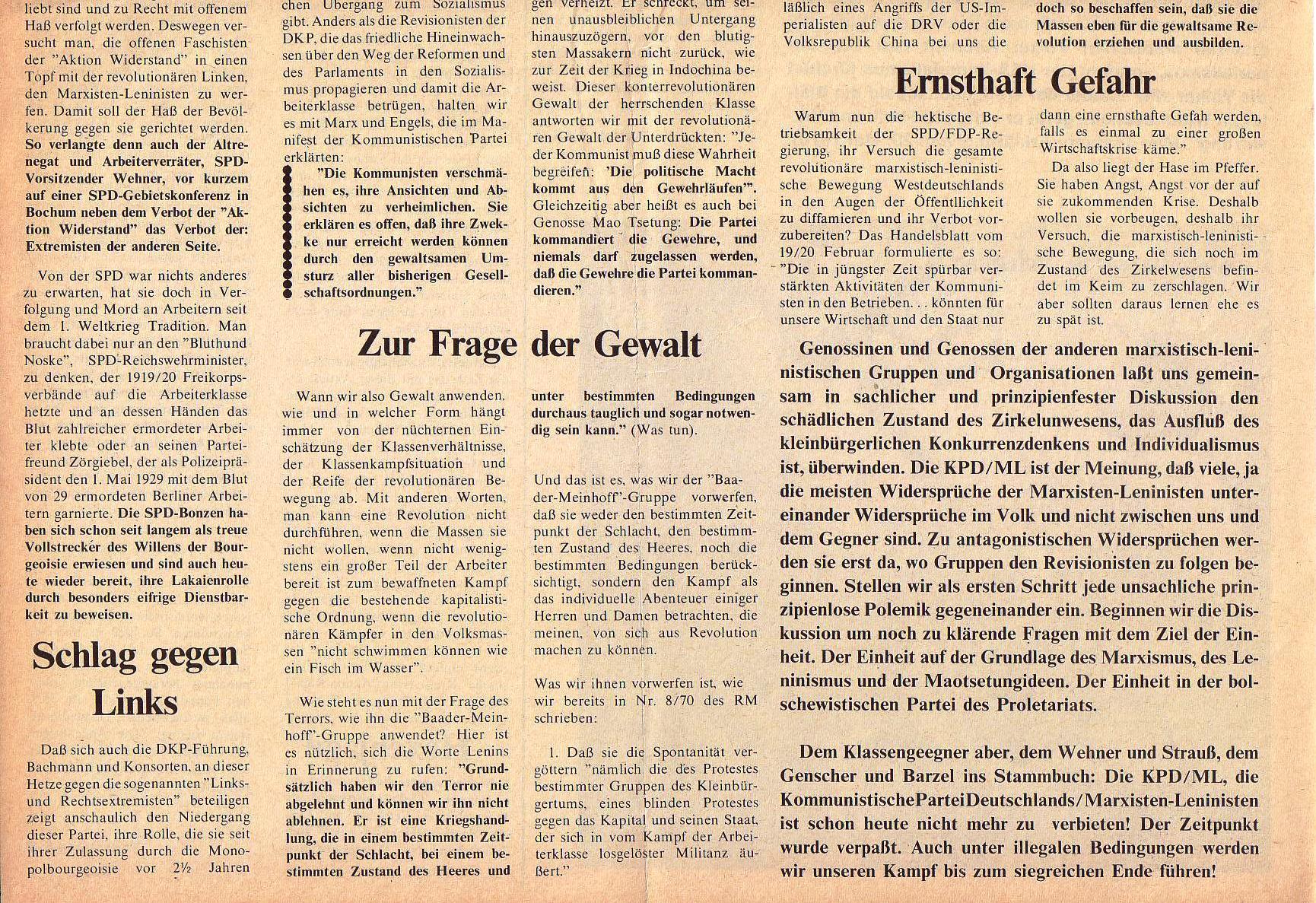 Roter Morgen, 5. Jg., März 1971, Nr. 3, Seite 2b