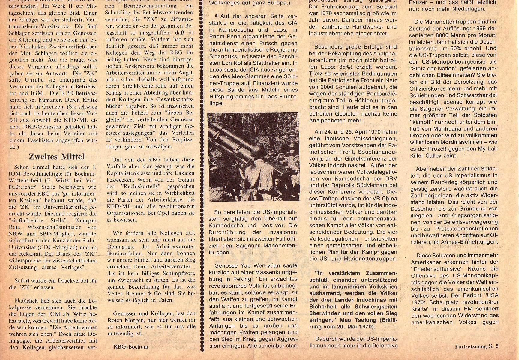 Roter Morgen, 5. Jg., März 1971, Nr. 3, Seite 4b