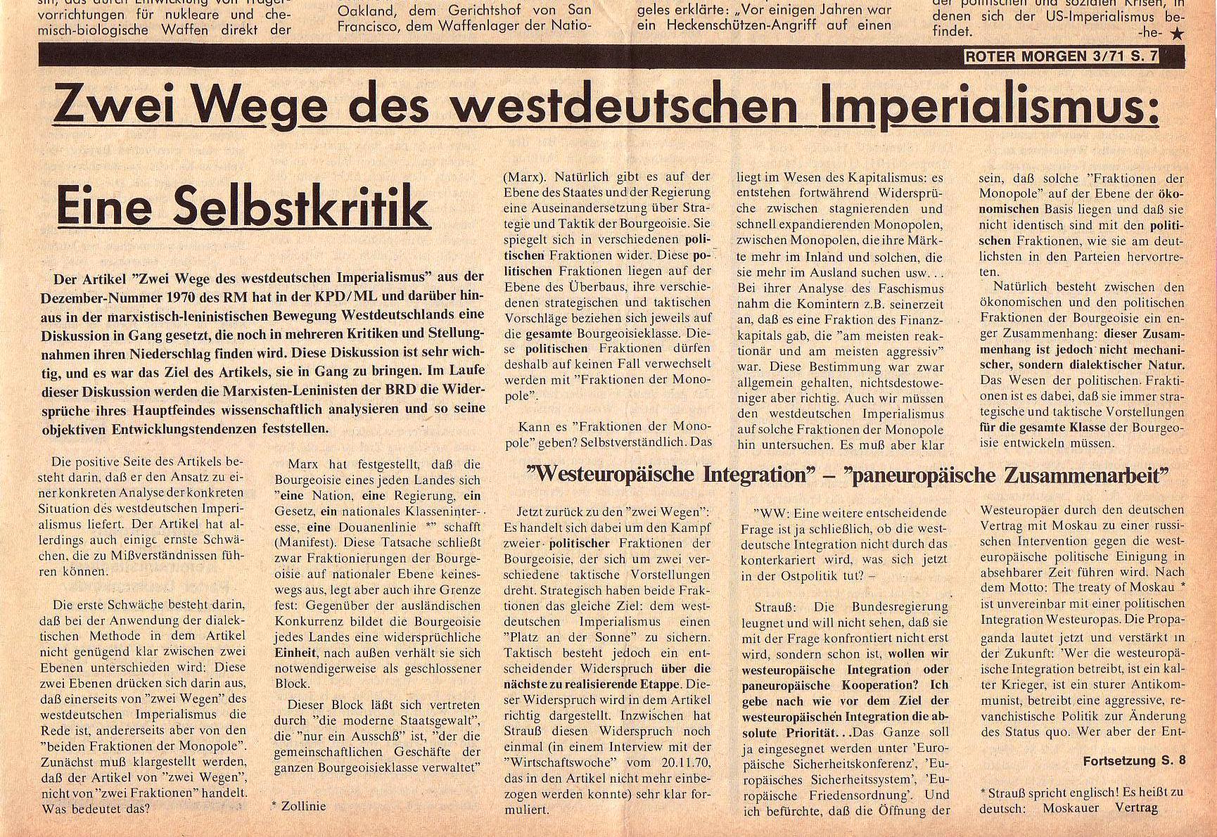Roter Morgen, 5. Jg., März 1971, Nr. 3, Seite 7b