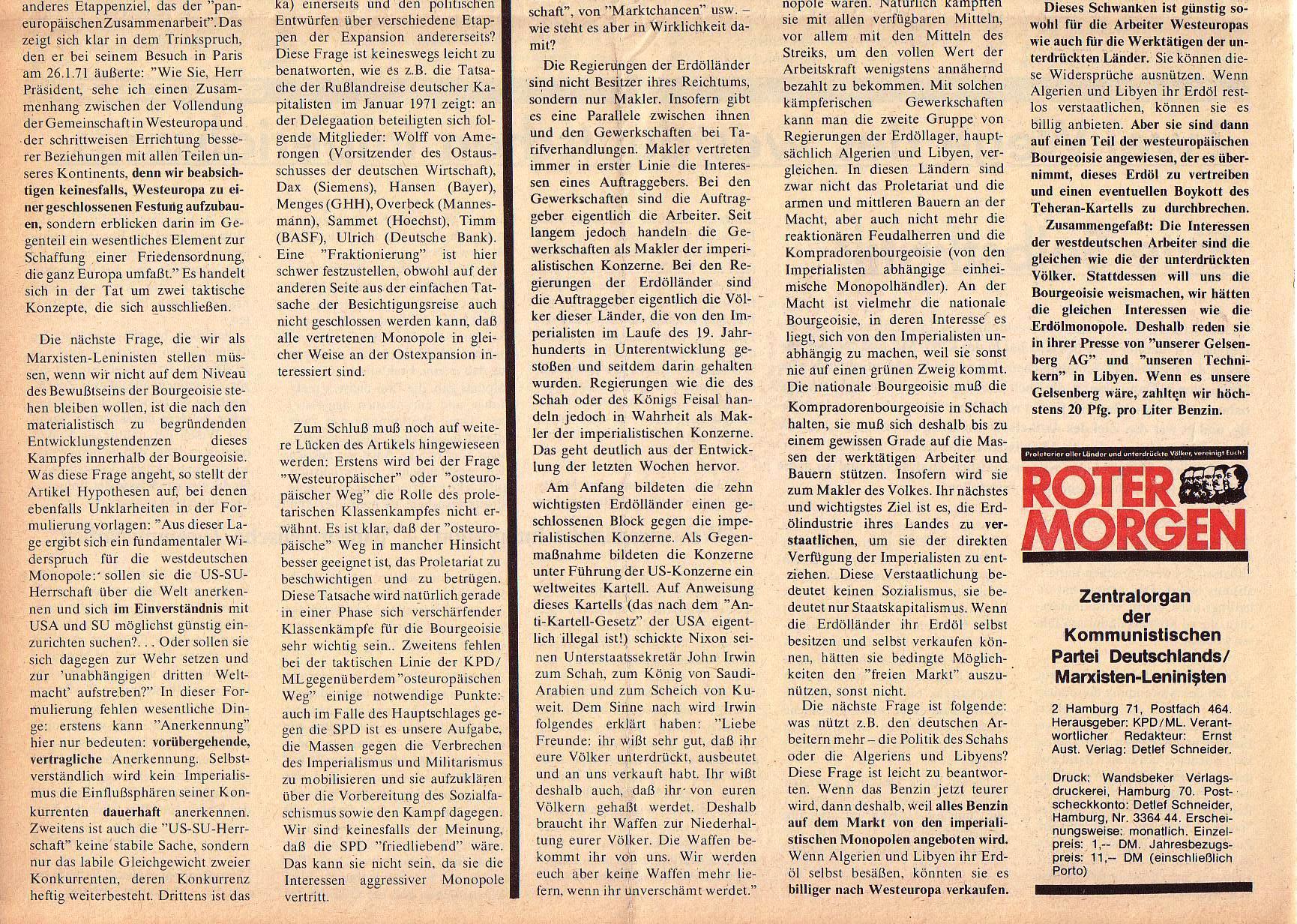 Roter Morgen, 5. Jg., März 1971, Nr. 3, Seite 8b