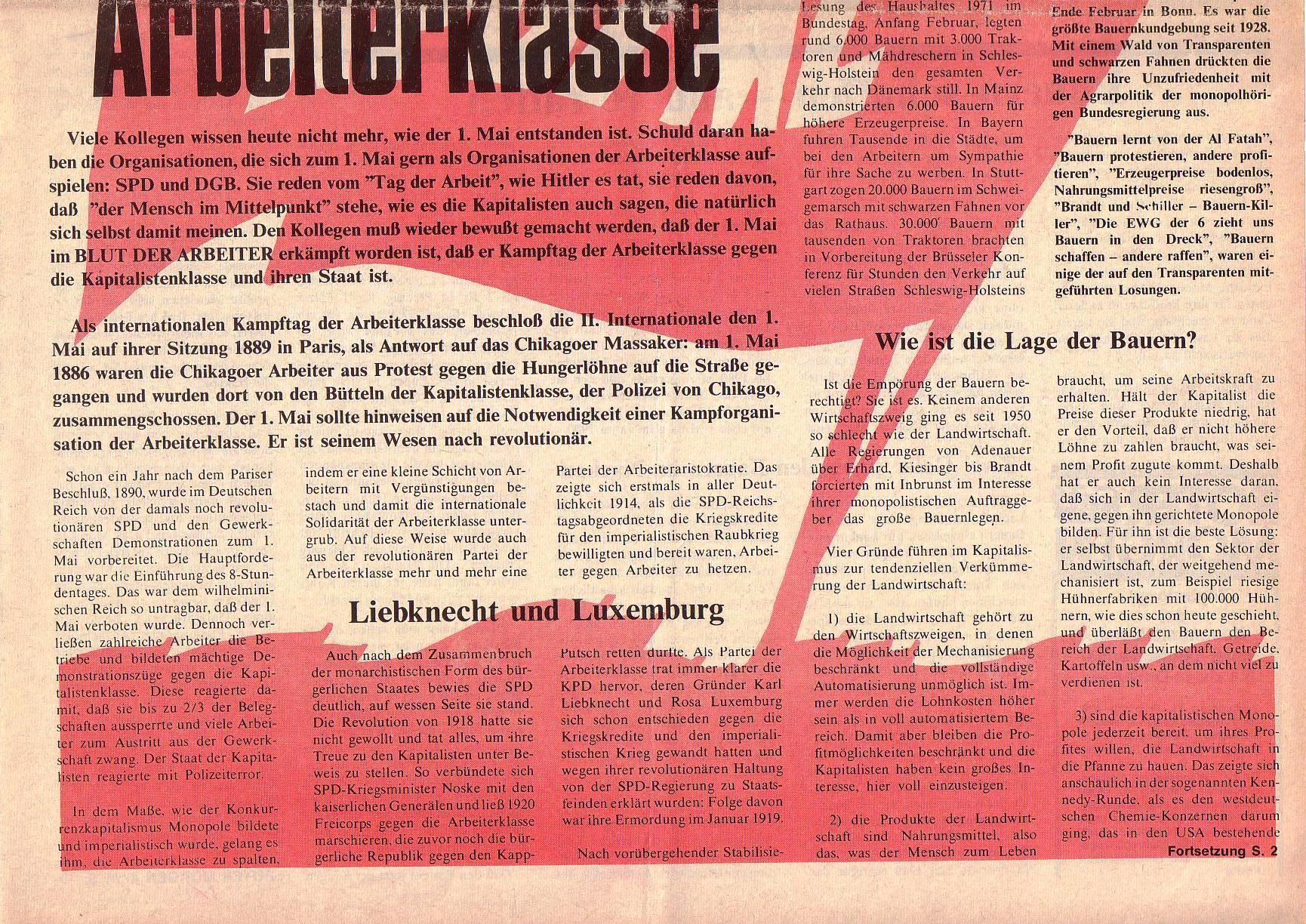 Roter Morgen, 5. Jg., April 1971, Nr. 4, Seite 1b