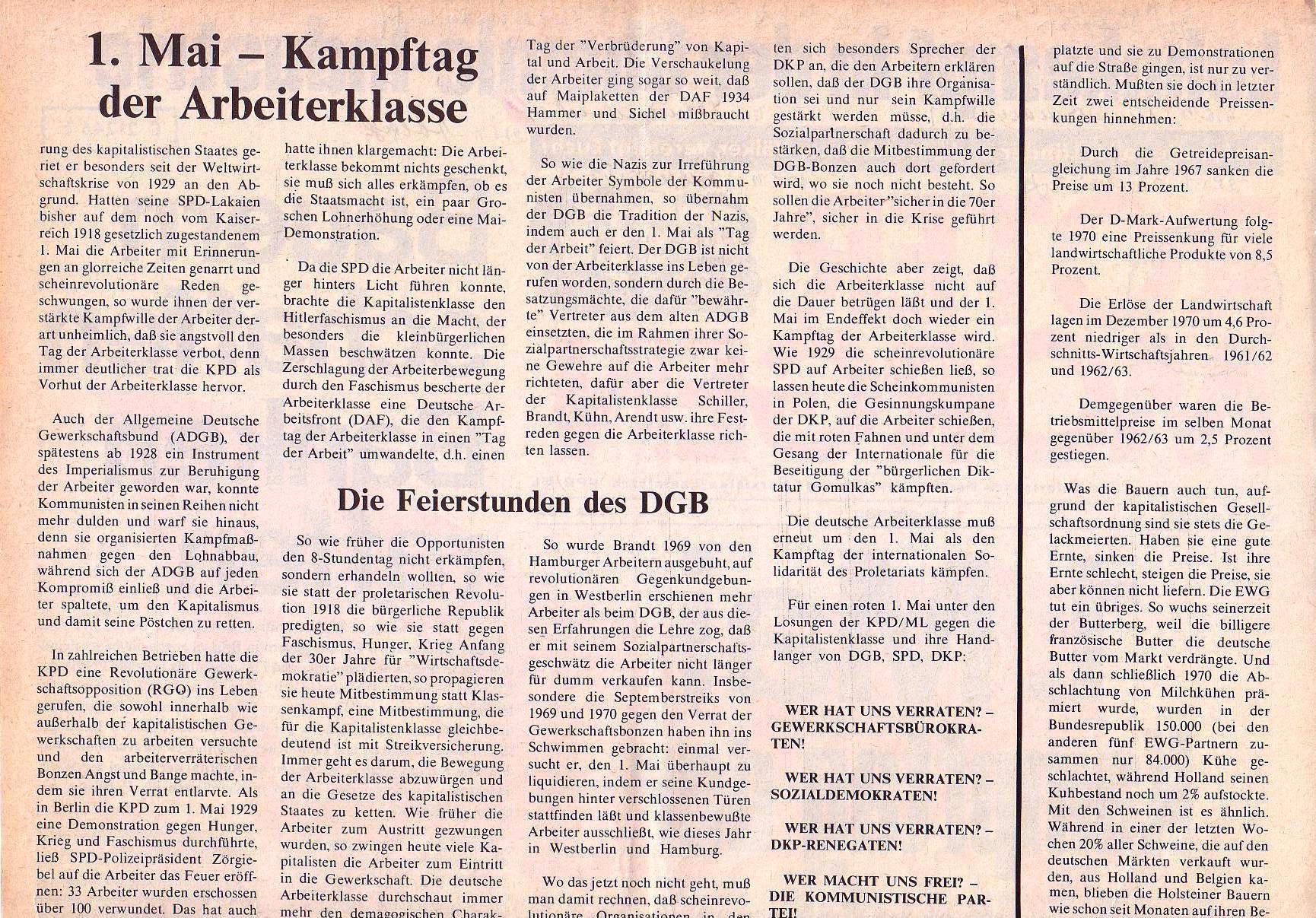 Roter Morgen, 5. Jg., April 1971, Nr. 4, Seite 2a