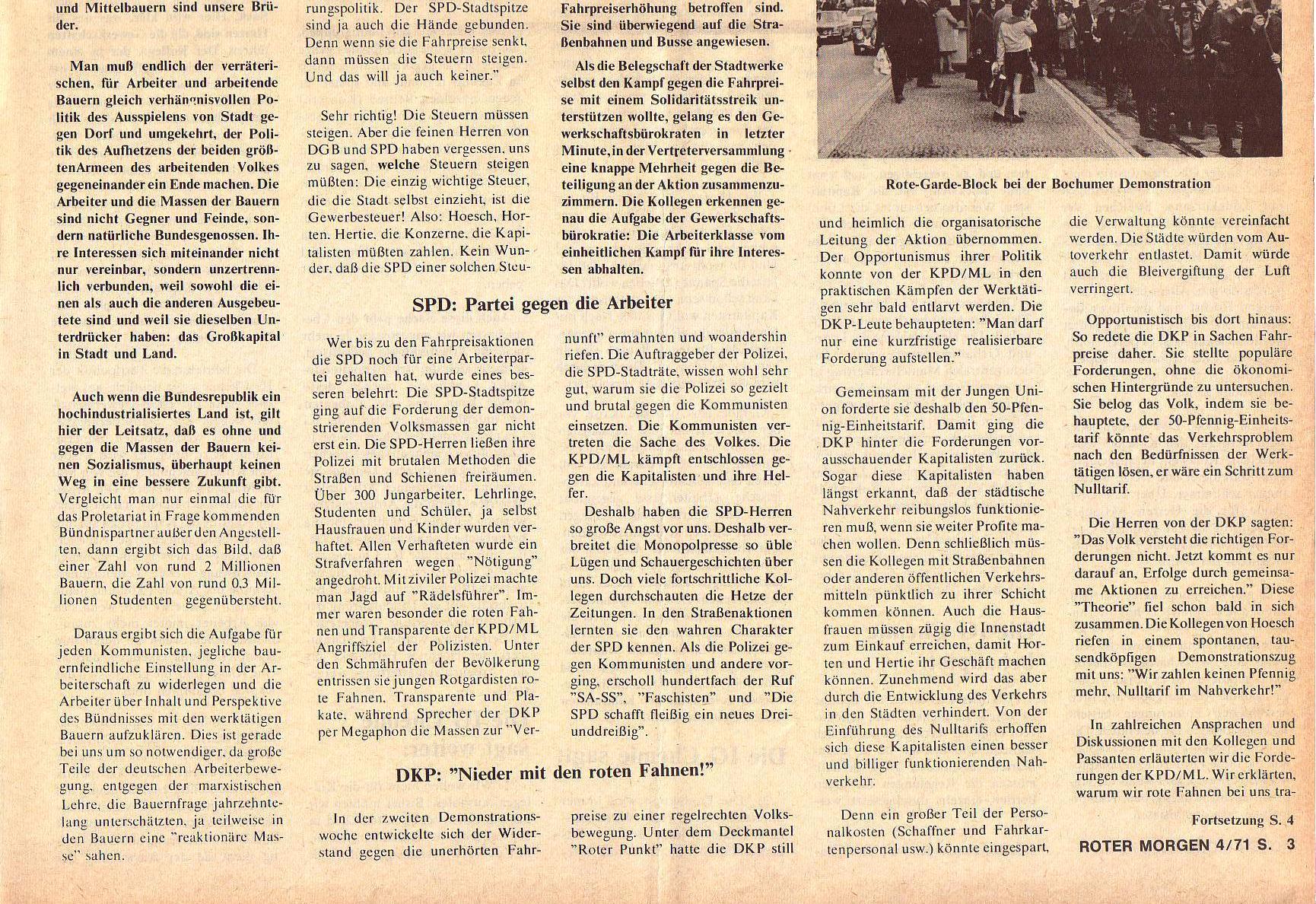 Roter Morgen, 5. Jg., April 1971, Nr. 4, Seite 3b