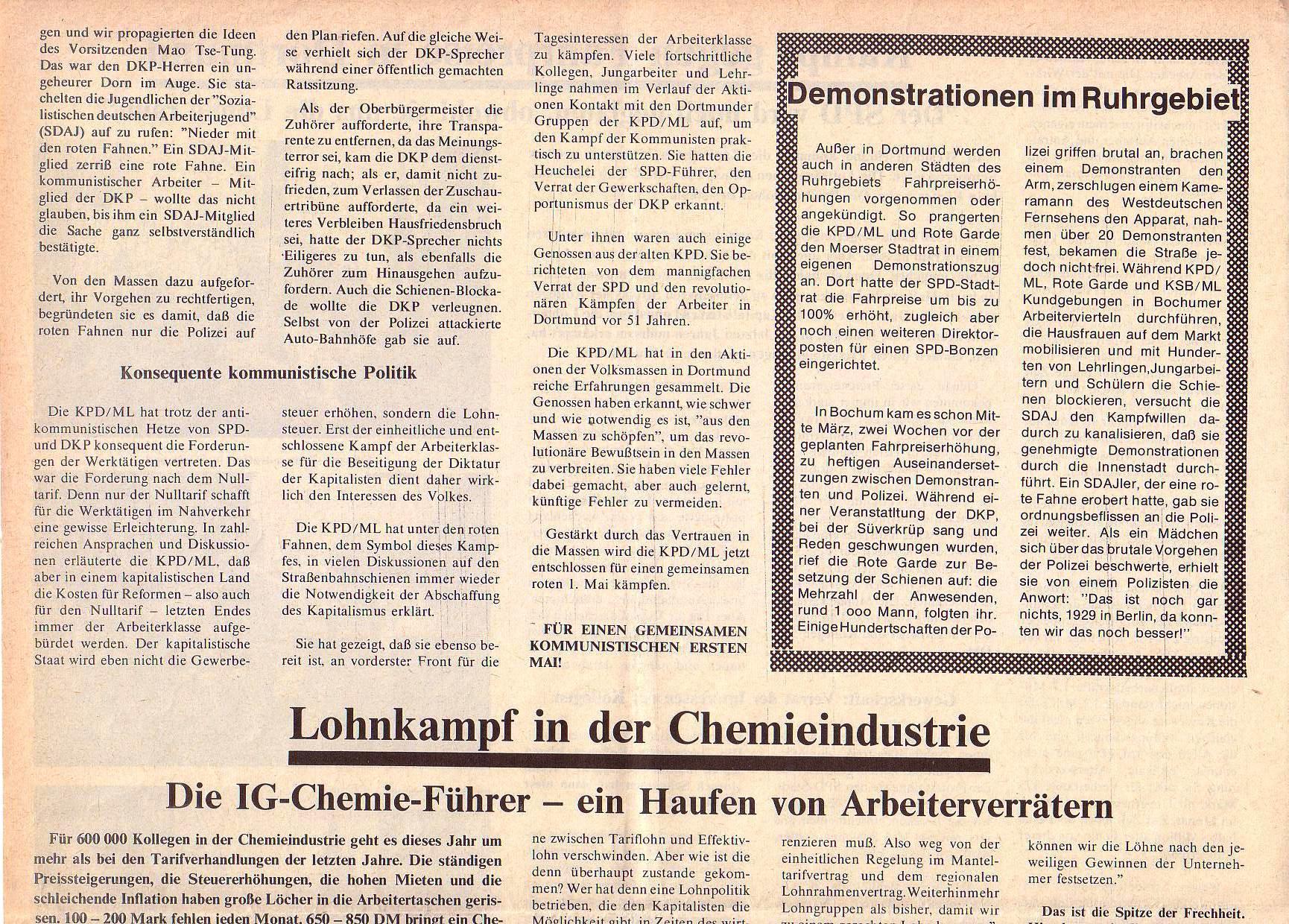 Roter Morgen, 5. Jg., April 1971, Nr. 4, Seite 4a
