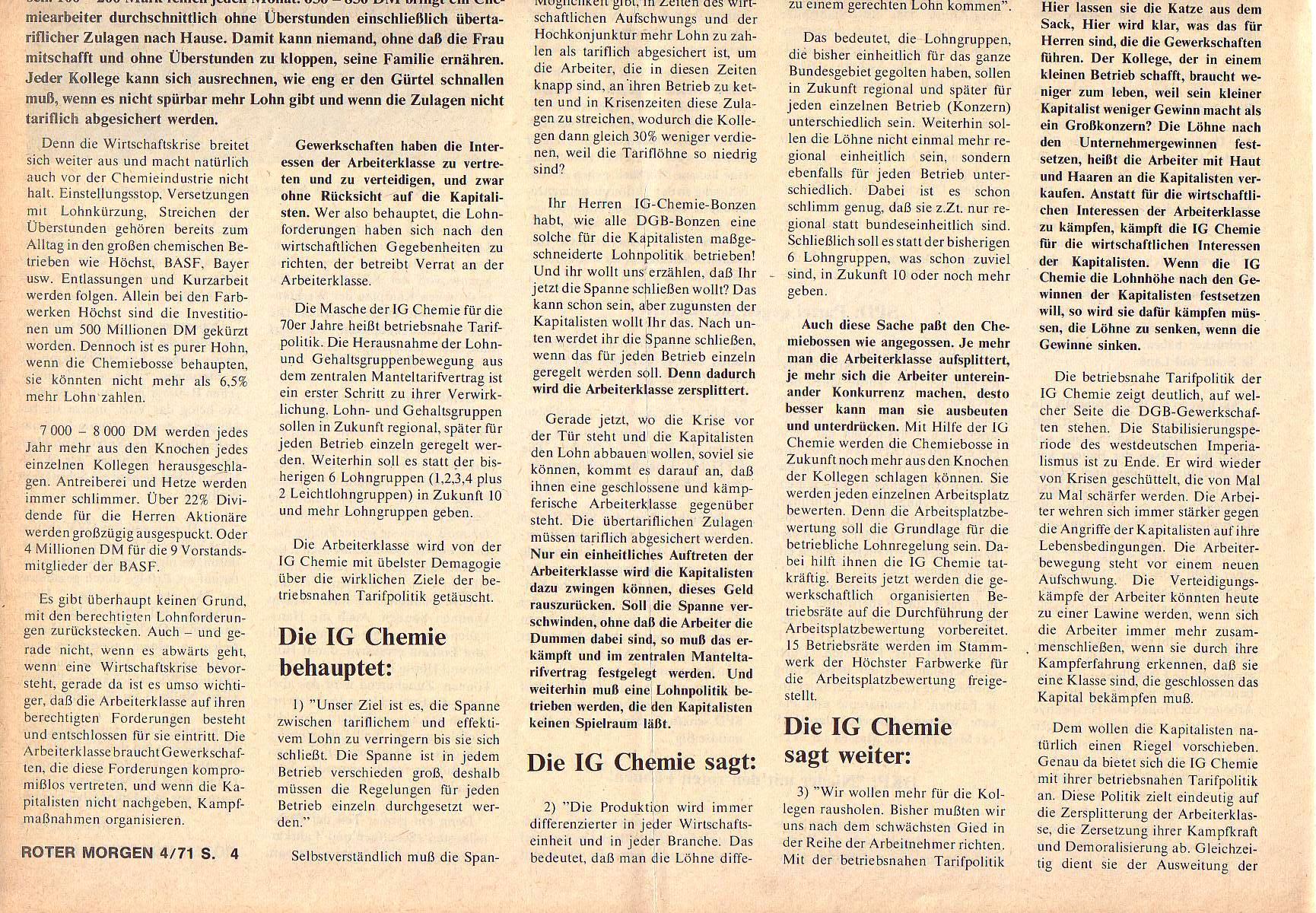 Roter Morgen, 5. Jg., April 1971, Nr. 4, Seite 4b