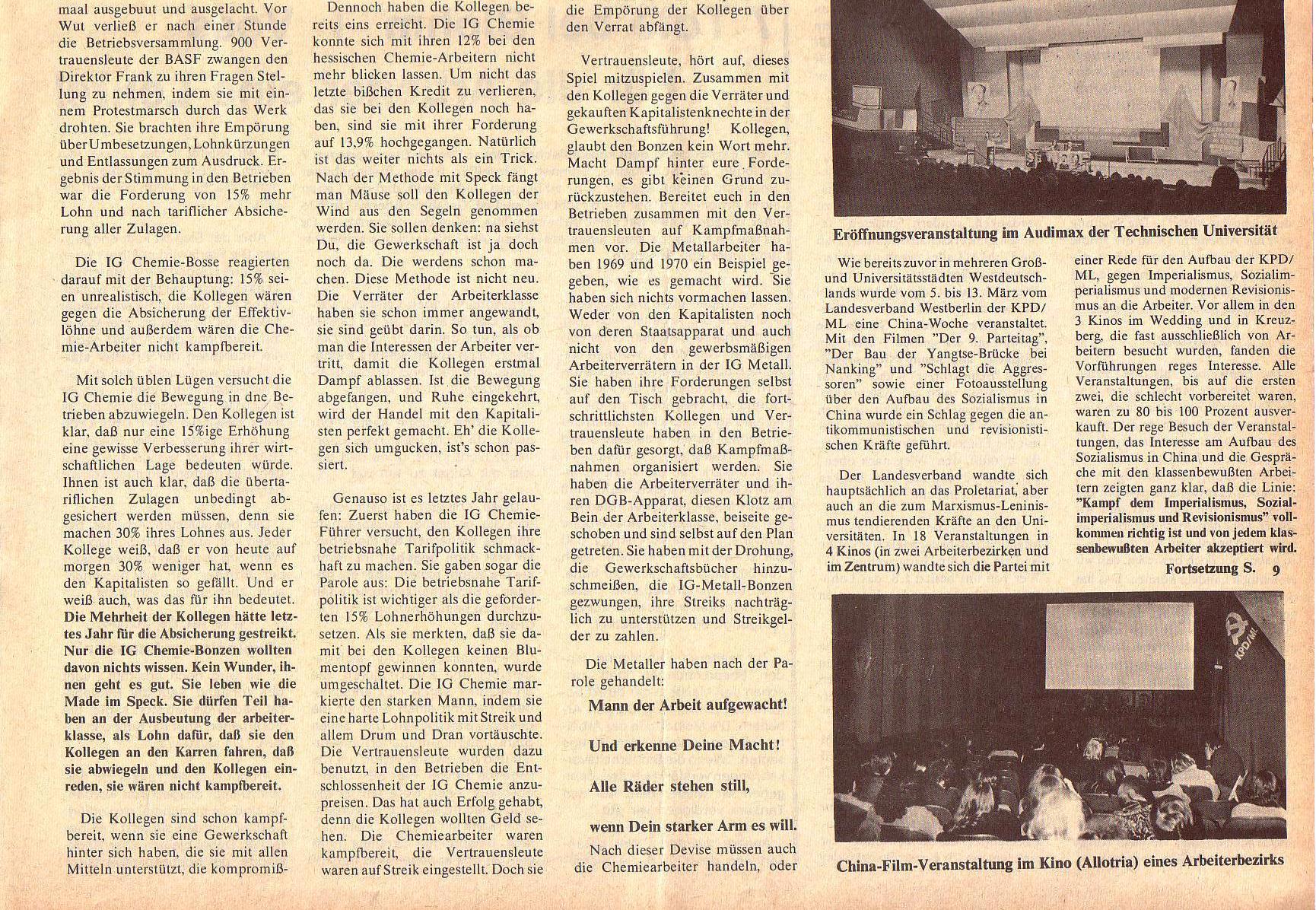 Roter Morgen, 5. Jg., April 1971, Nr. 4, Seite 5b
