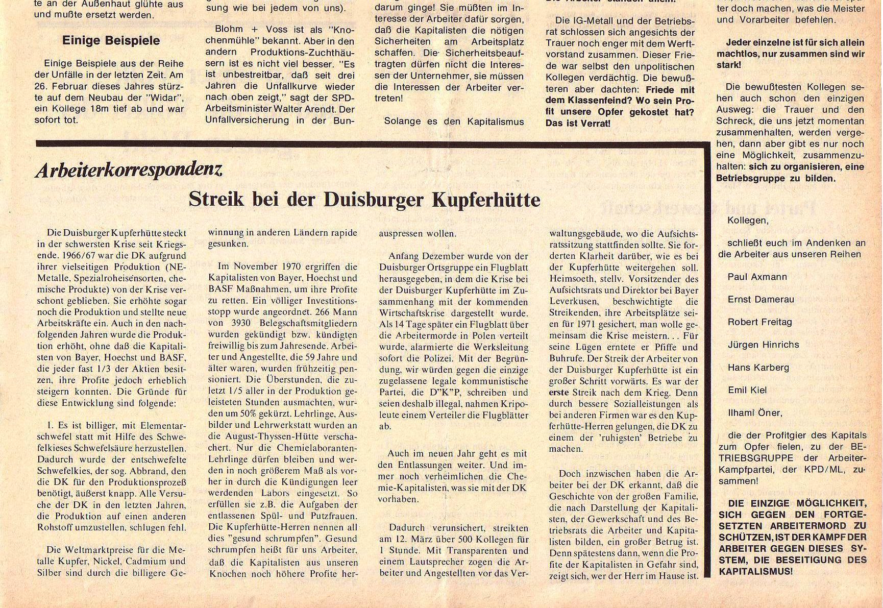 Roter Morgen, 5. Jg., April 1971, Nr. 4, Seite 7b