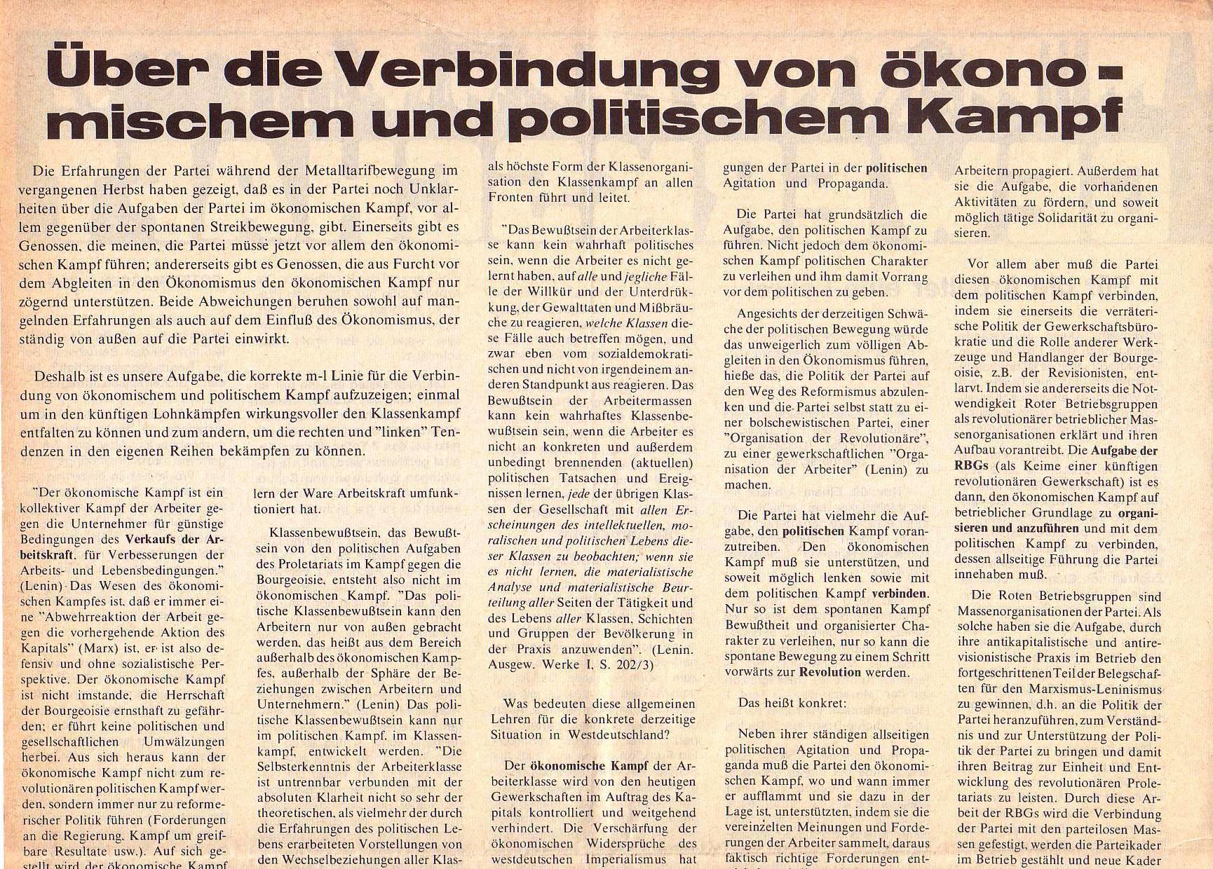 Roter Morgen, 5. Jg., April 1971, Nr. 4, Seite 8a