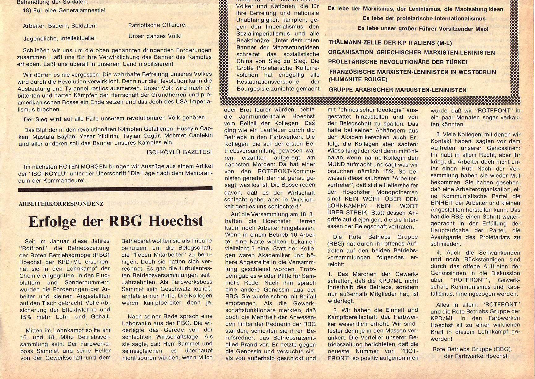 Roter Morgen, 5. Jg., April 1971, Nr. 4, Seite 9b
