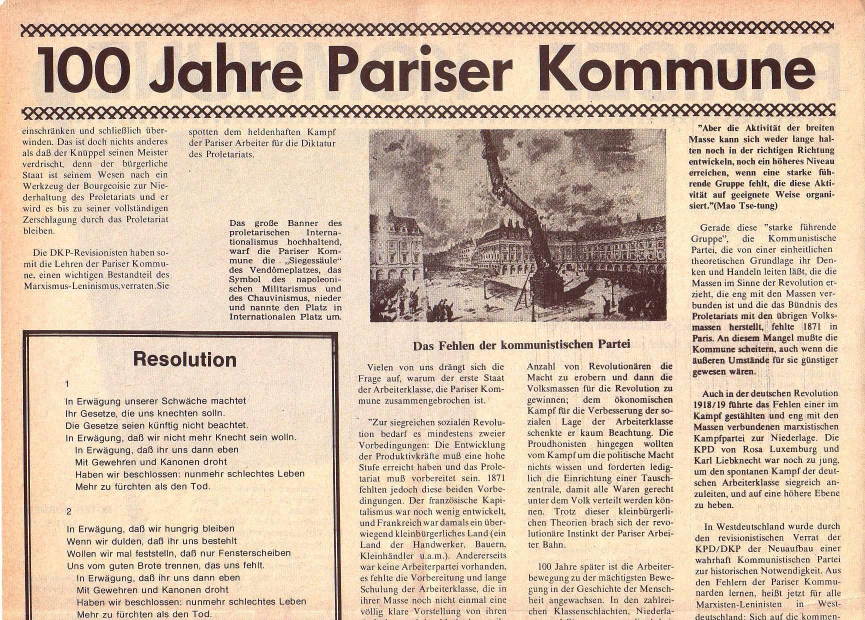Roter Morgen, 5. Jg., April 1971, Nr. 4, Seite 12a