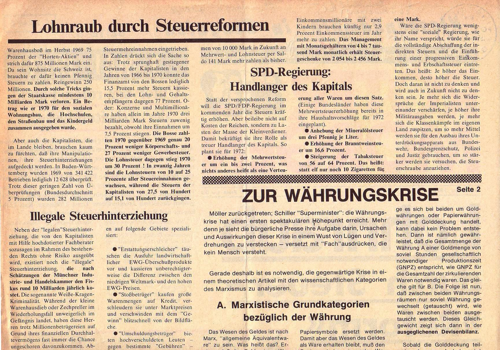 Roter Morgen, 5. Jg., Mai 1971, Nr. 5, Seite 2a