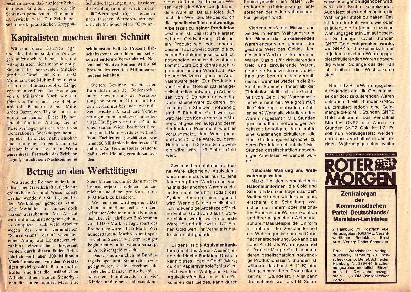 Roter Morgen, 5. Jg., Mai 1971, Nr. 5, Seite 2b