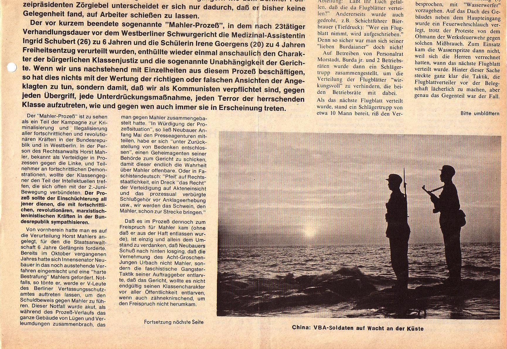 Roter Morgen, 5. Jg., Juni 1971, Nr. 6, Seite 1b