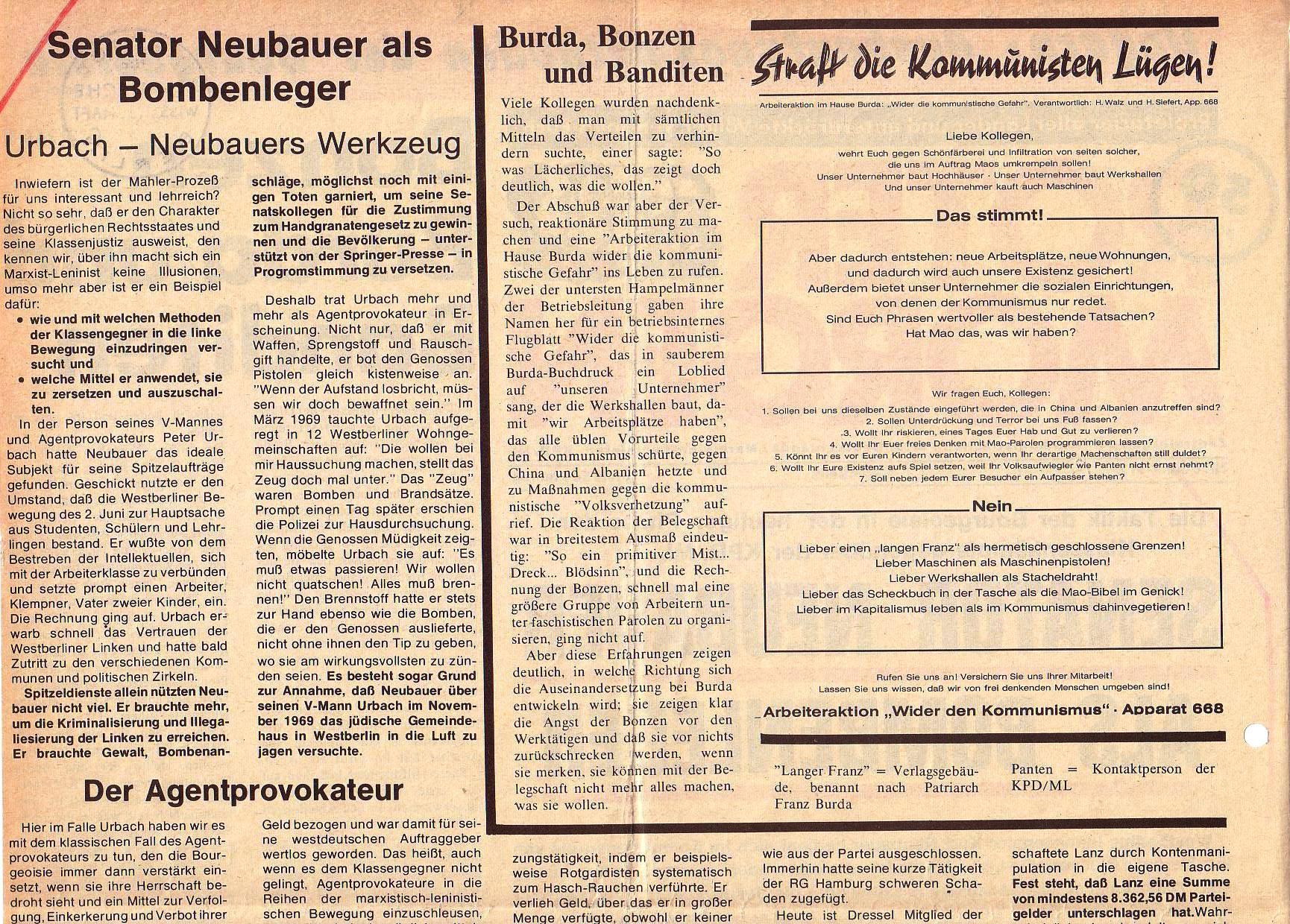 Roter Morgen, 5. Jg., Juni 1971, Nr. 6, Seite 2a