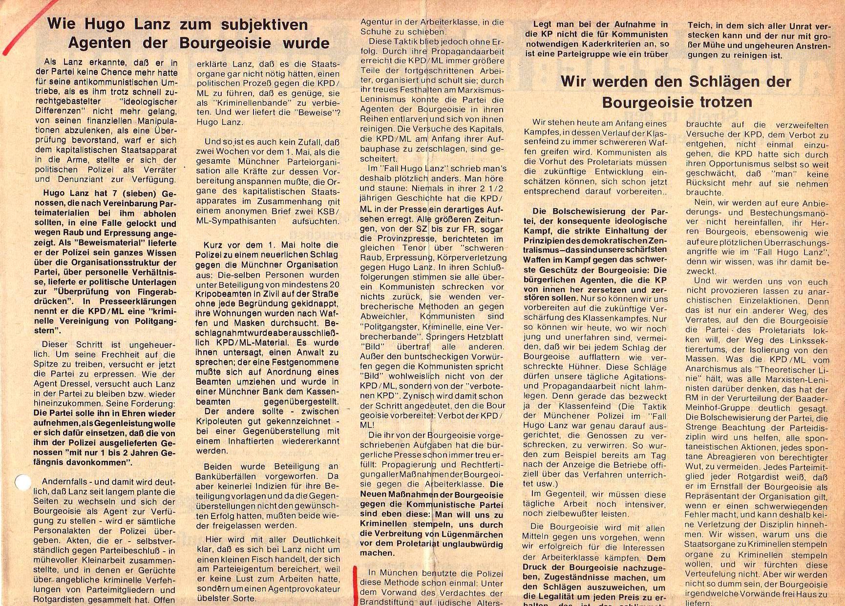 Roter Morgen, 5. Jg., Juni 1971, Nr. 6, Seite 3a