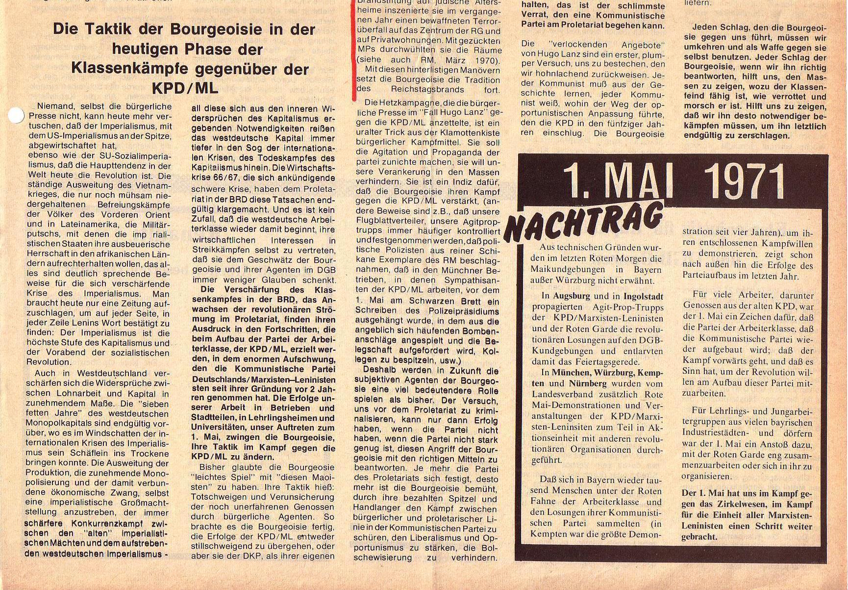 Roter Morgen, 5. Jg., Juni 1971, Nr. 6, Seite 3b