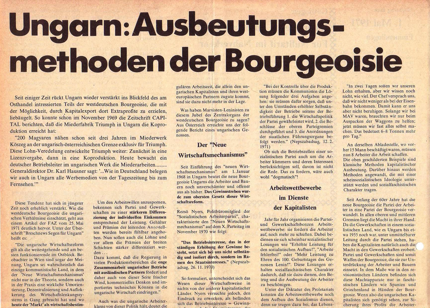 Roter Morgen, 5. Jg., Juni 1971, Nr. 6, Seite 6a