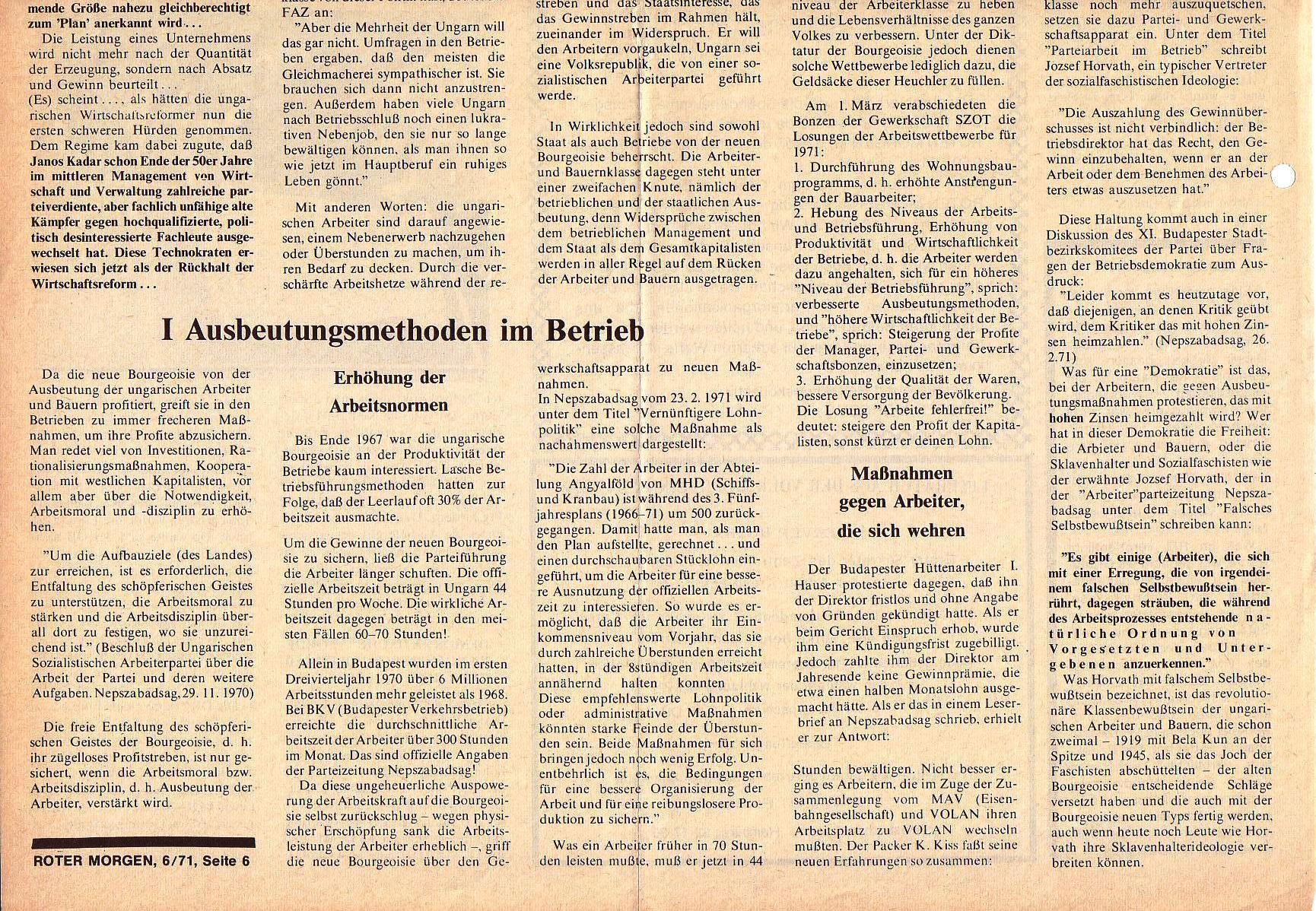 Roter Morgen, 5. Jg., Juni 1971, Nr. 6, Seite 6b