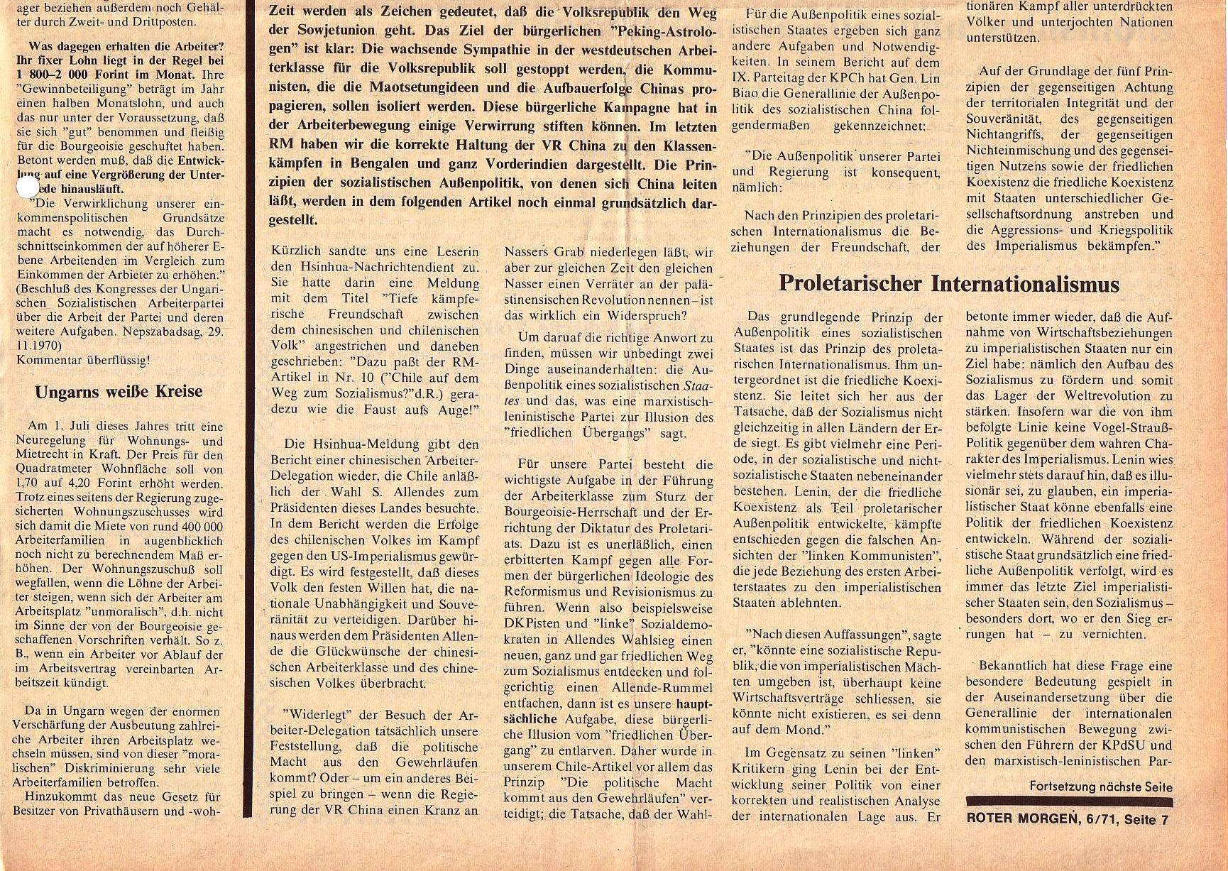 Roter Morgen, 5. Jg., Juni 1971, Nr. 6, Seite 7b