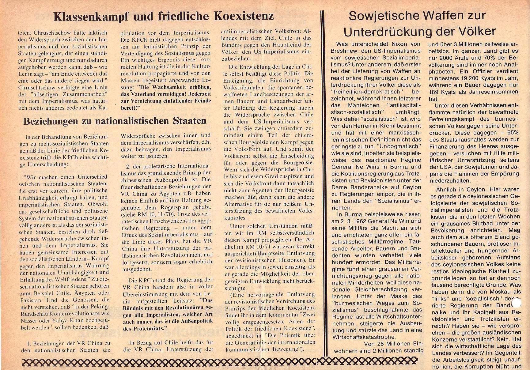Roter Morgen, 5. Jg., Juni 1971, Nr. 6, Seite 8a