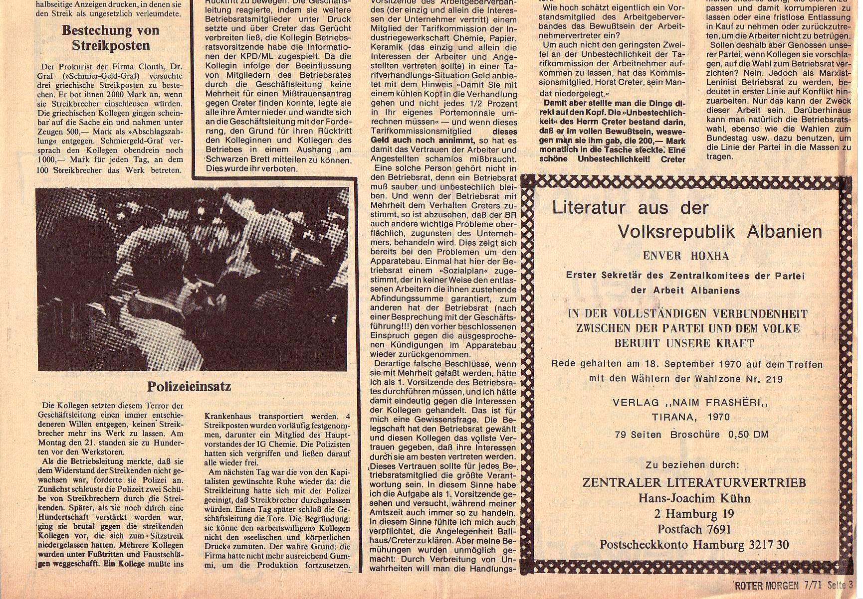 Roter Morgen, 5. Jg., Juli 1971, Nr. 7, Seite 3b
