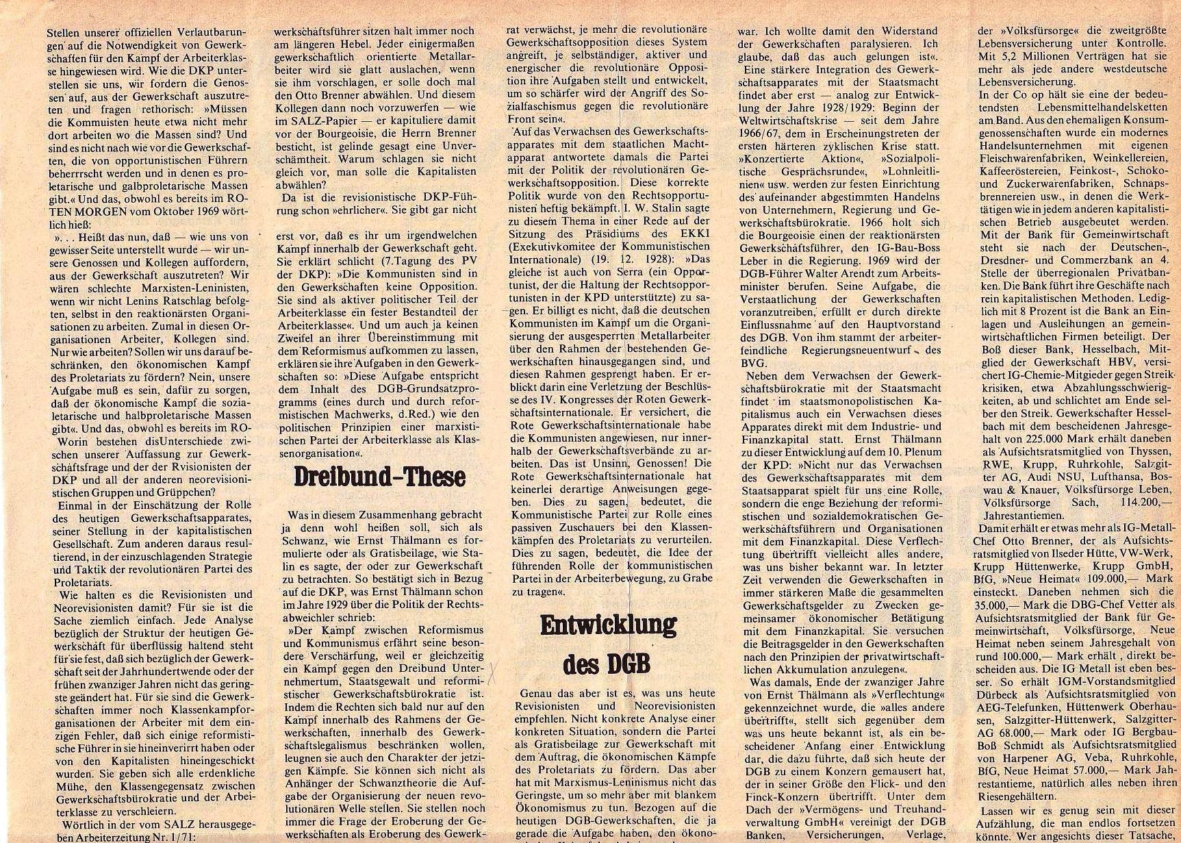 Roter Morgen, 5. Jg., Juli 1971, Nr. 7, Seite 5a