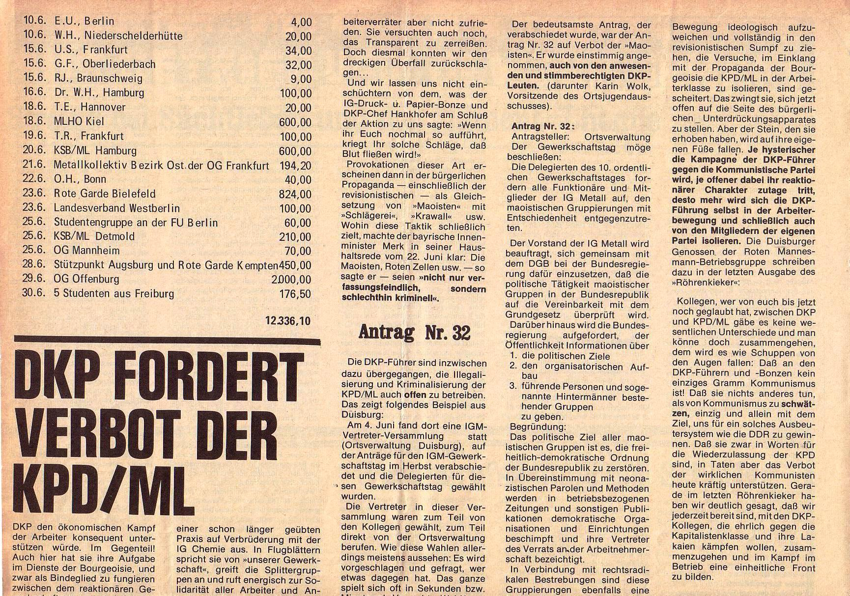 Roter Morgen, 5. Jg., Juli 1971, Nr. 7, Seite 6a