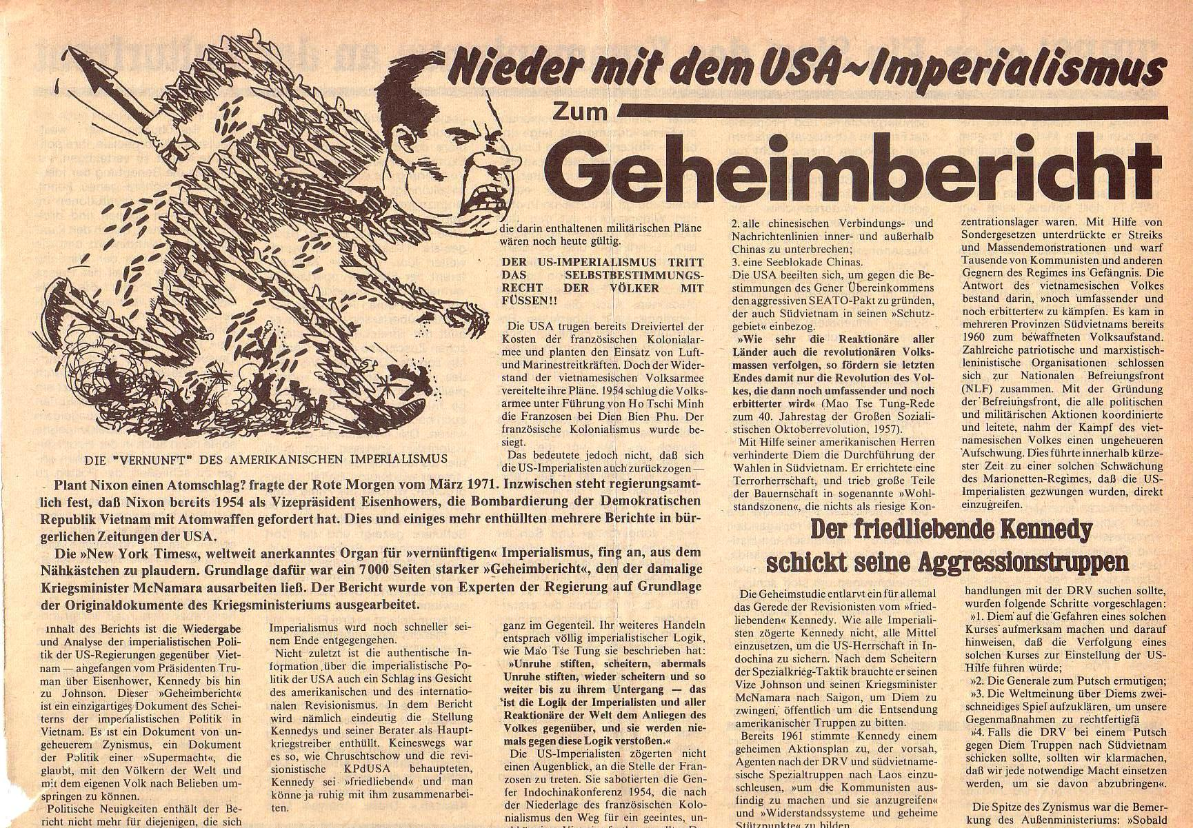 Roter Morgen, 5. Jg., Juli 1971, Nr. 7, Seite 7a